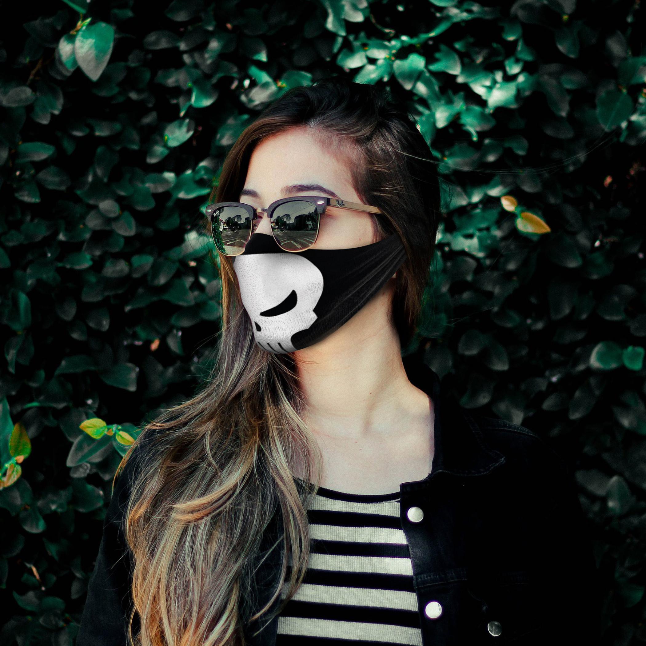 Punisher Face Mask Tubular Bandana