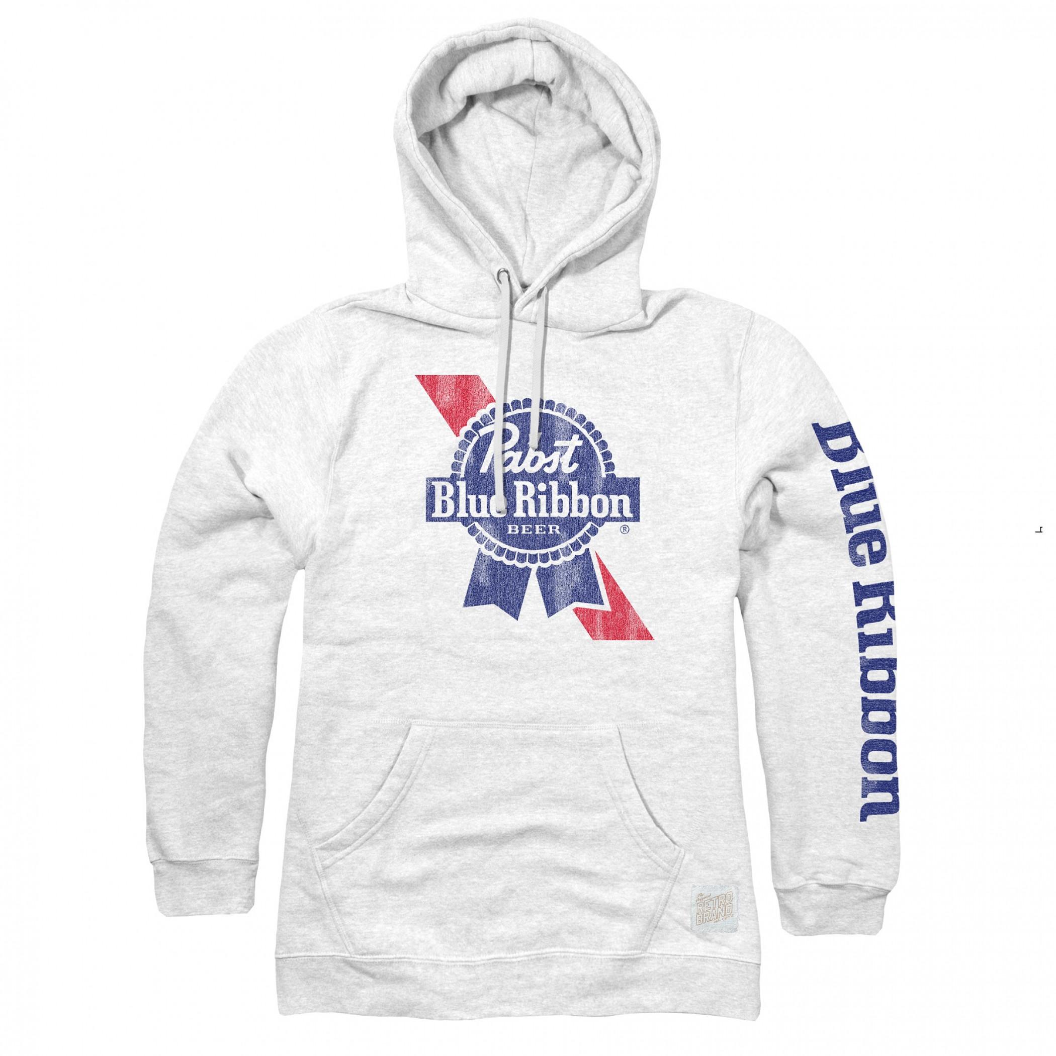 Pabst Blue Ribbon Sleeve Print Logo Hoodie