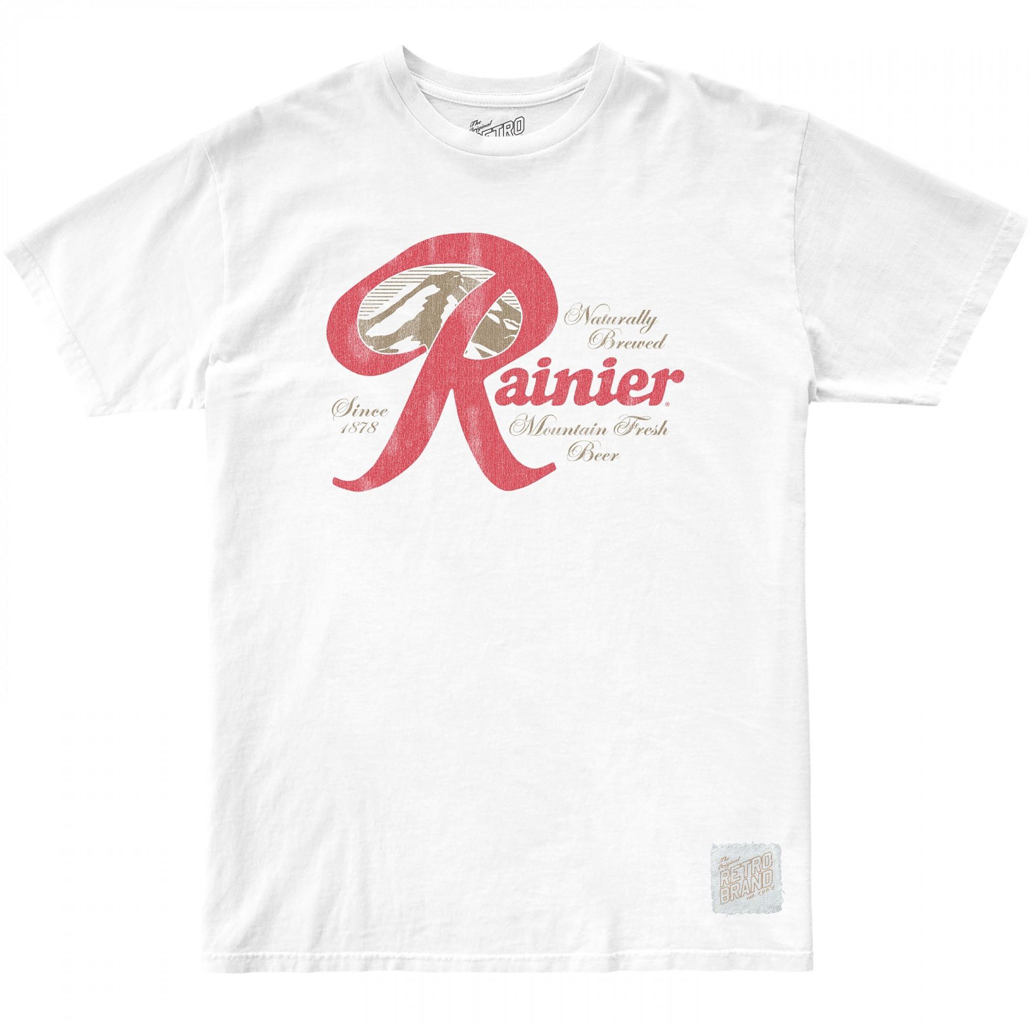 Rainier Beer Naturally Brewed Classic Logo White T-Shirt
