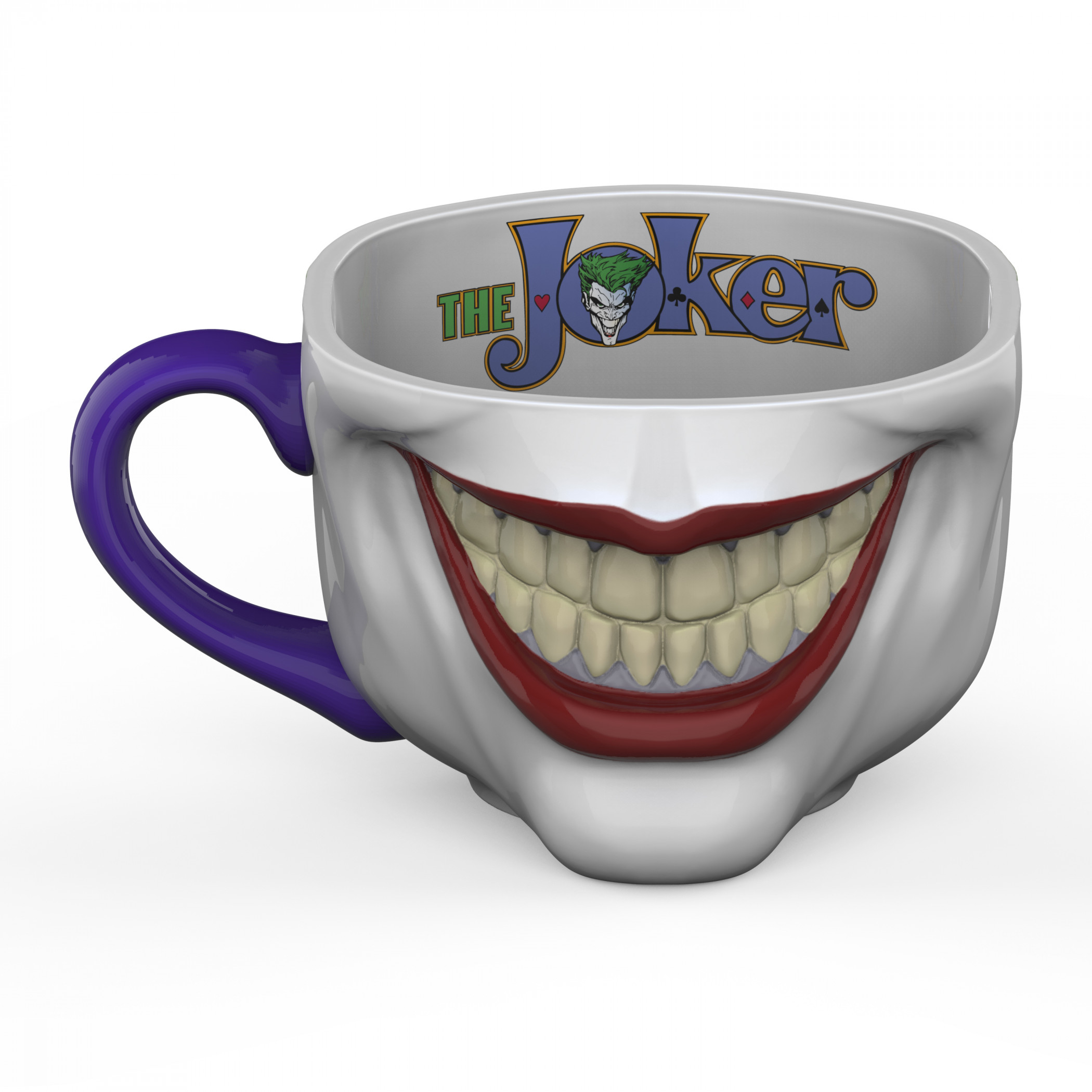 DC Comics Joker Half Face Sculpted Mug