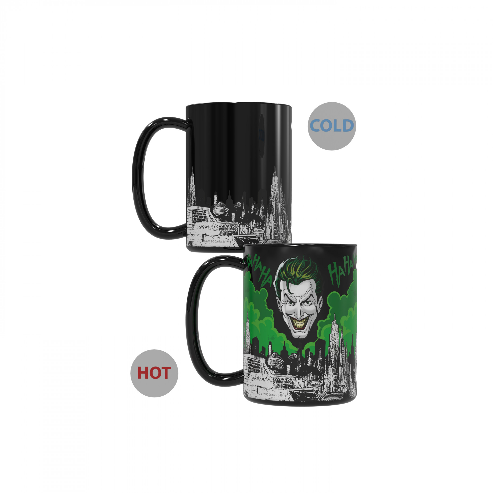 Batman and Joker Core Color Change Ceramic Mug