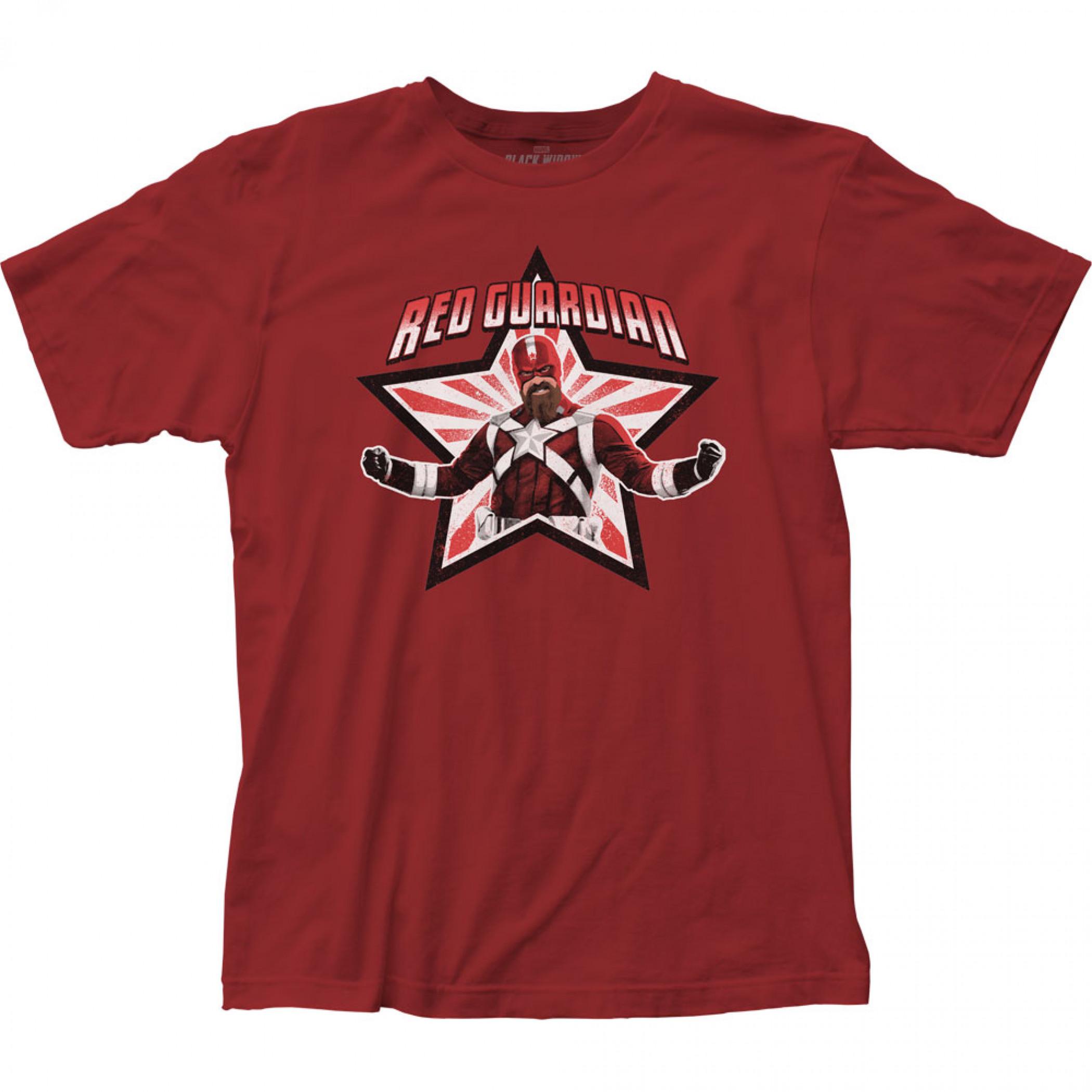 Marvel Black Widow Movie Red Guardian Star T-Shirt