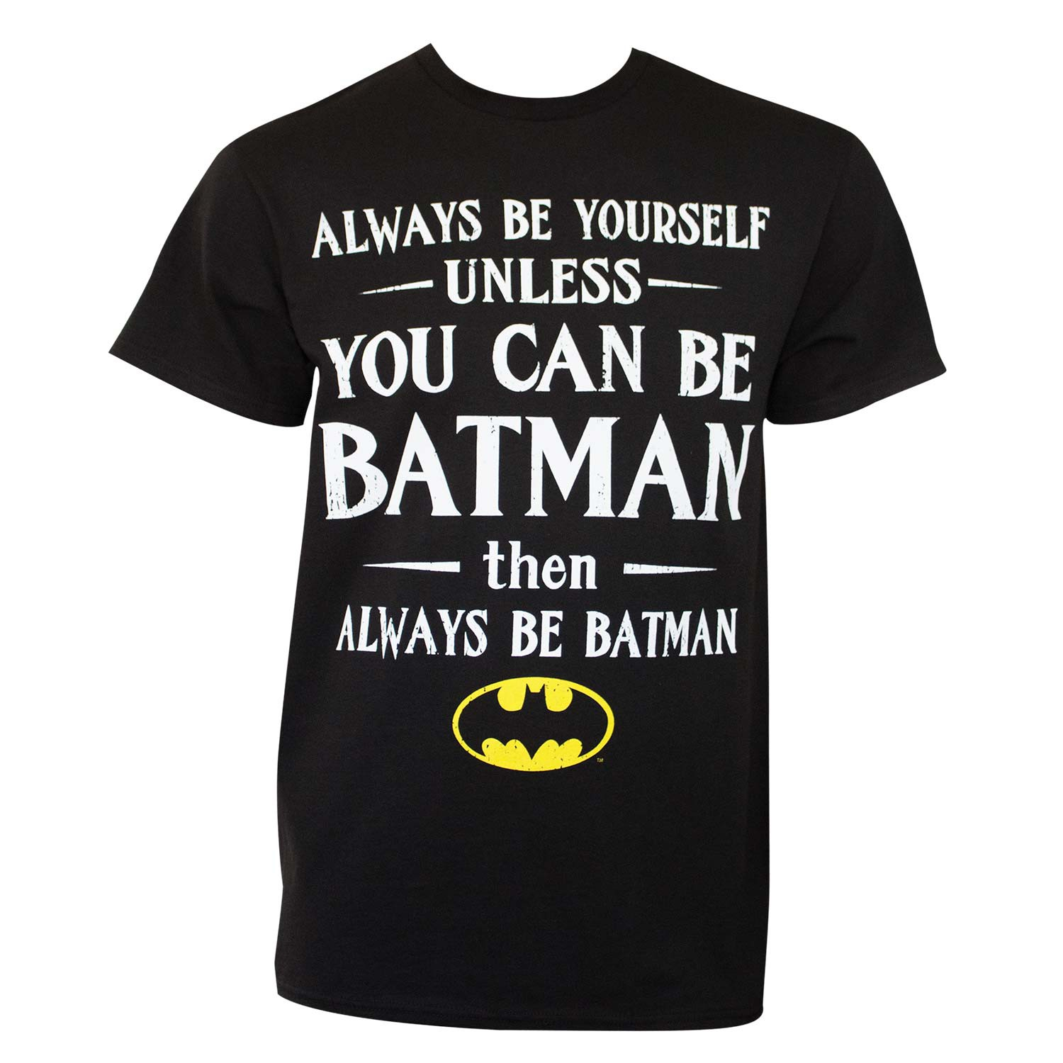 Batman Men's Black Always Be Yourself T-Shirt