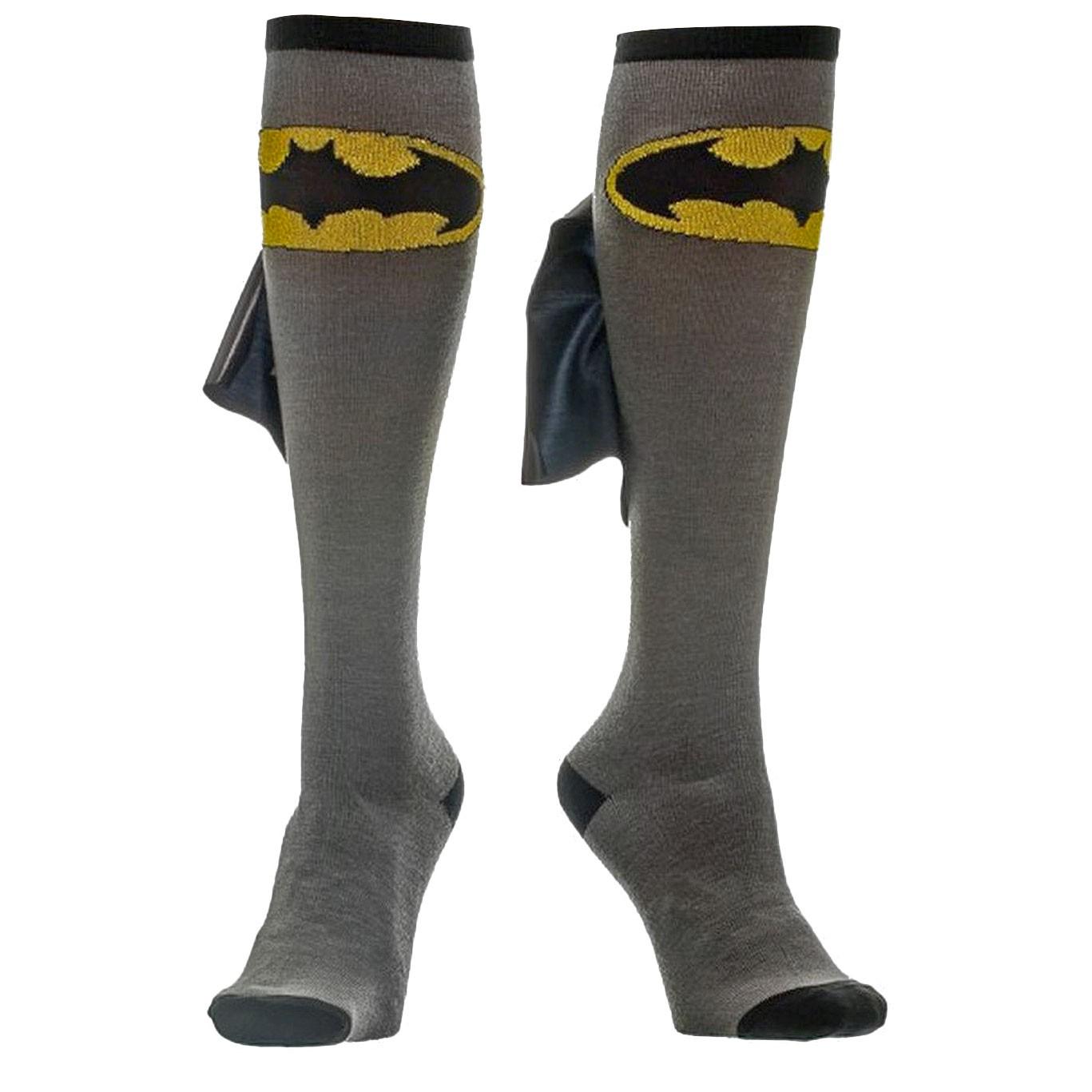 Batman Knee High Shiny Cape Socks