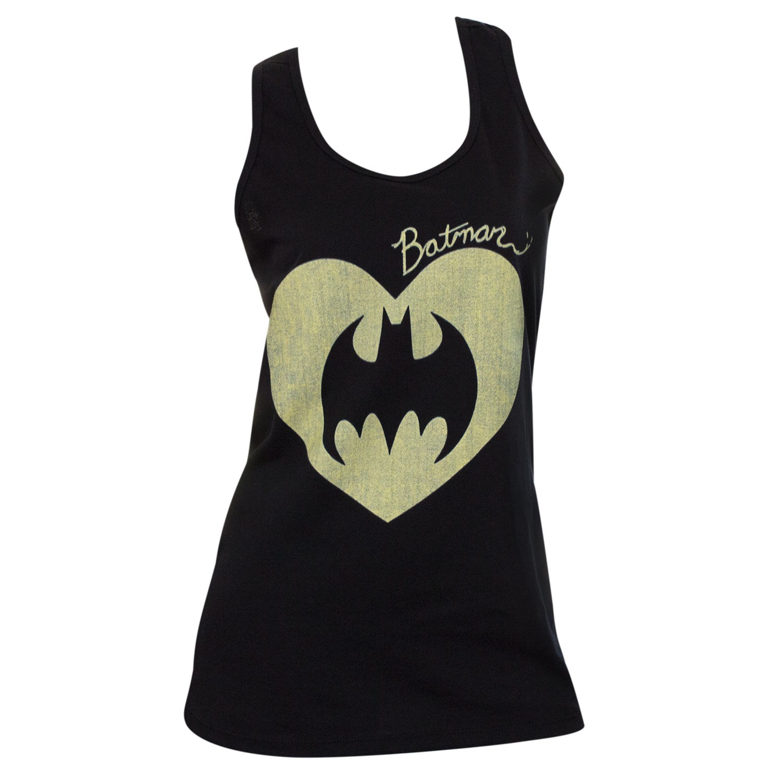 Batman Heart Womens Tank Top