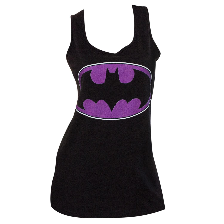 Batman Purple Logo Womens Tank