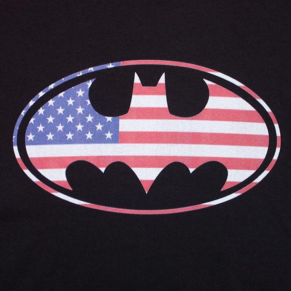Batman American Flag Top - Black
