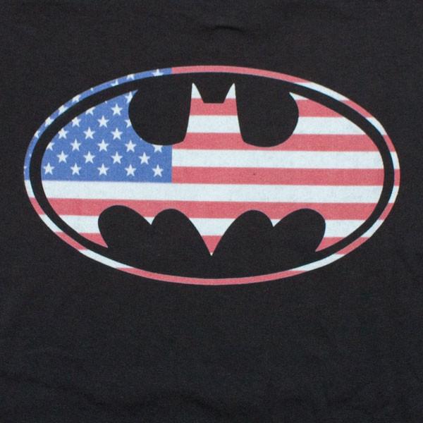 Batman American Flag Black T-Shirt