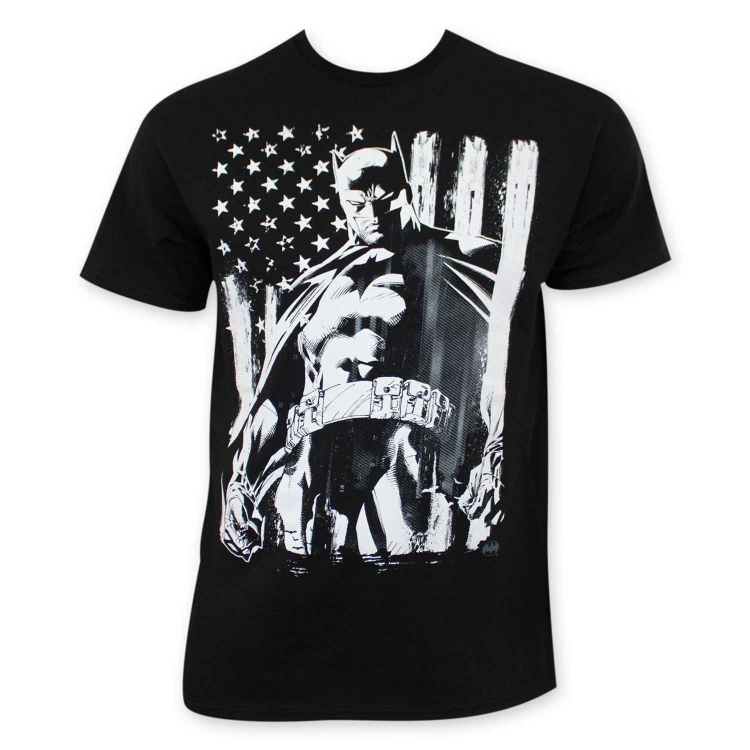 Batman Chalk American Flag Tee Shirt