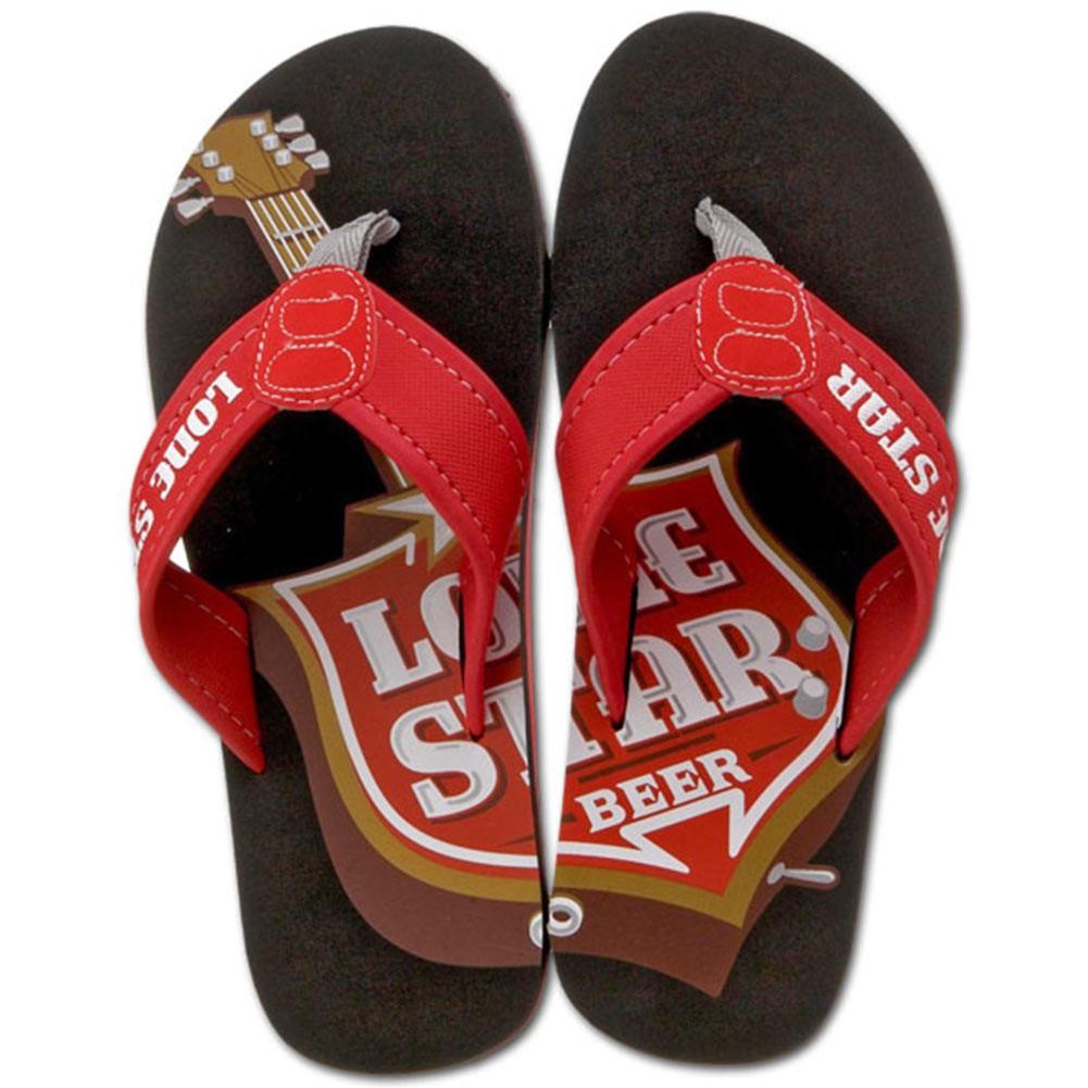 Lone Star Beer Mens Sandals