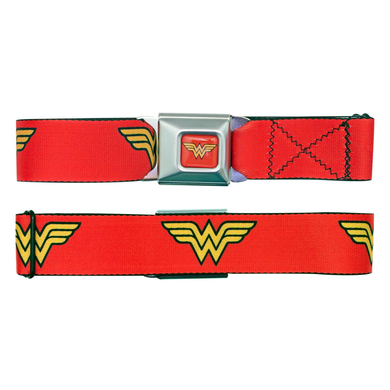 Wonder Woman Red Seatbelt Buckle Belt