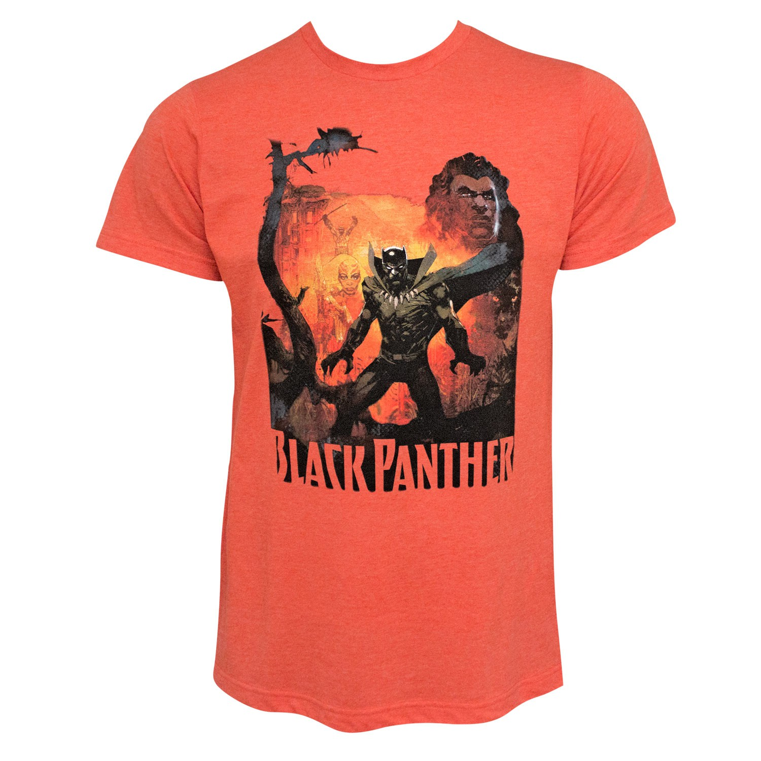 Black Panther History Of The King Men's Orange T-Shirt