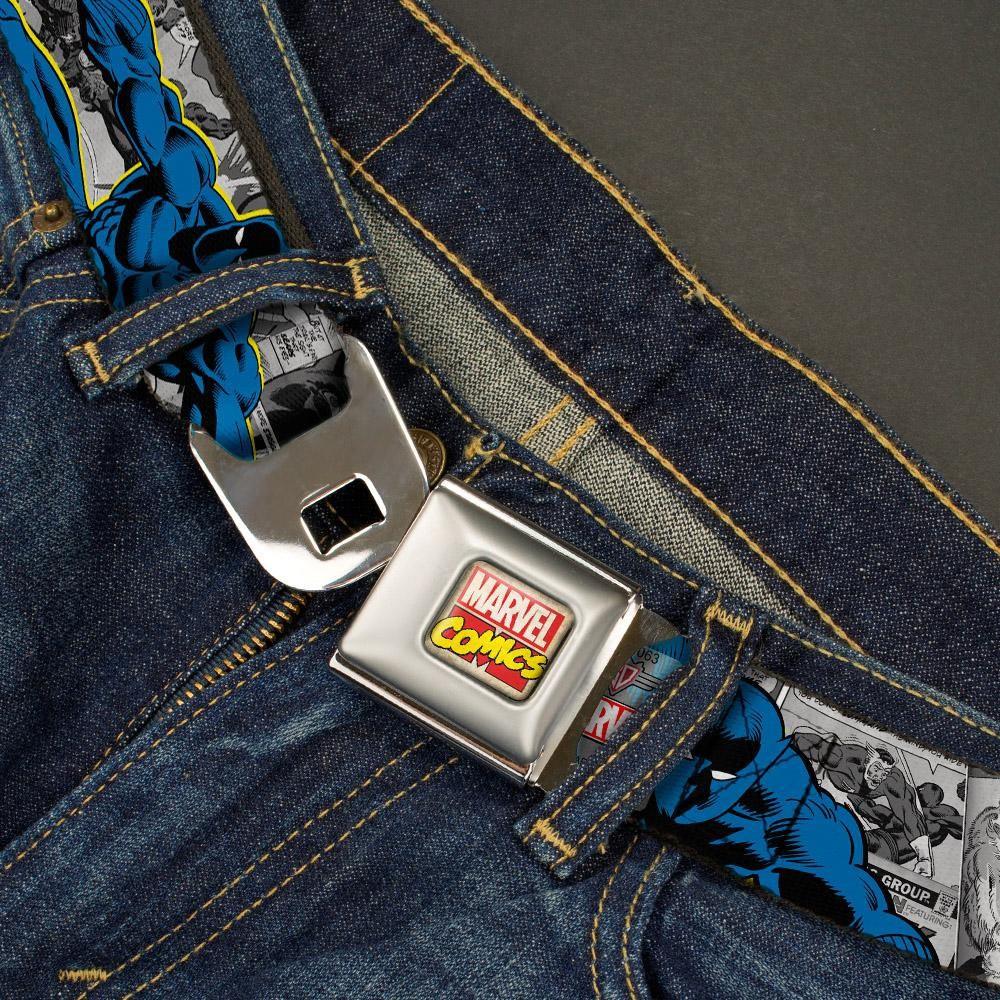Black Panther Seat Belt Buckle Belt