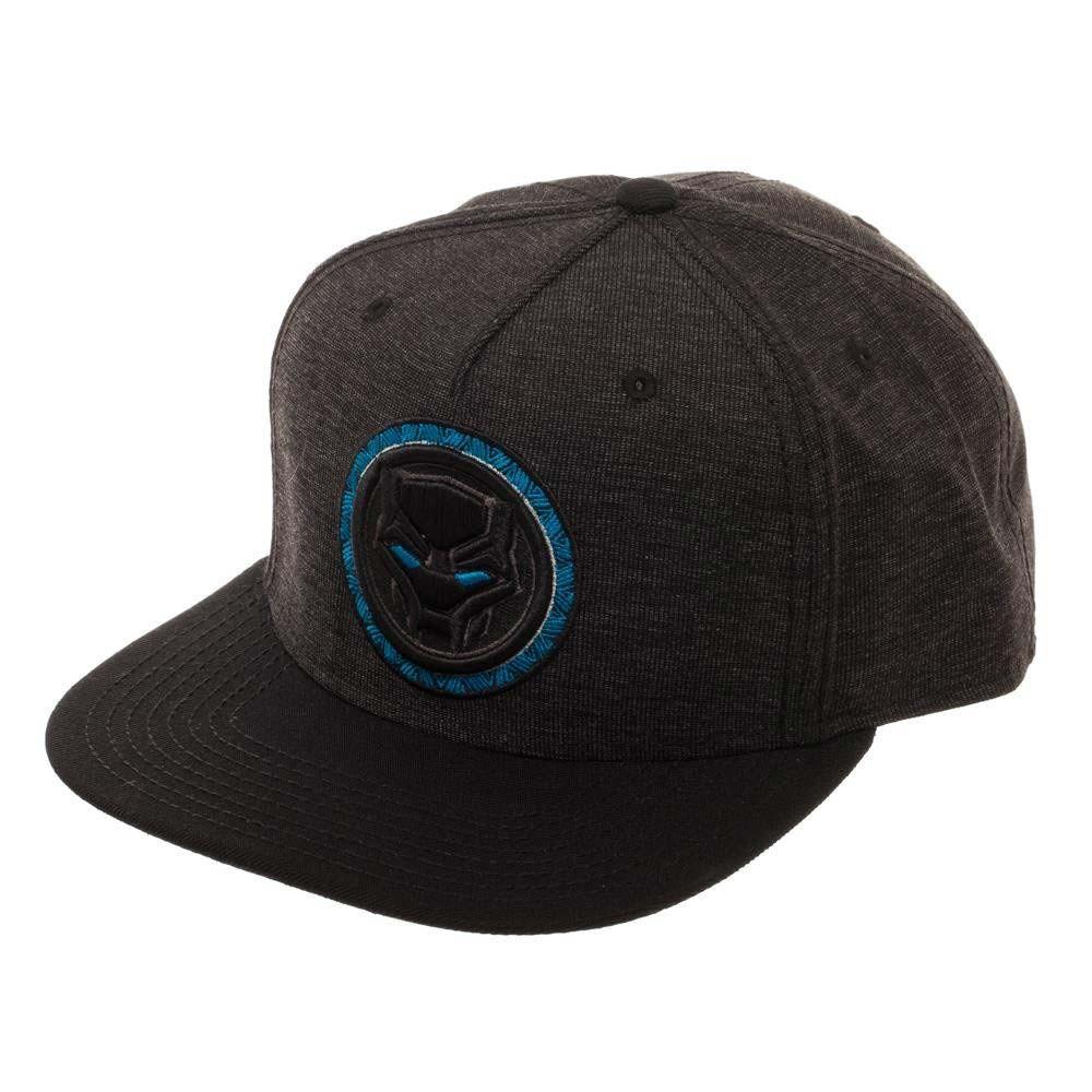Black Panther Logo Black Snapback Hat
