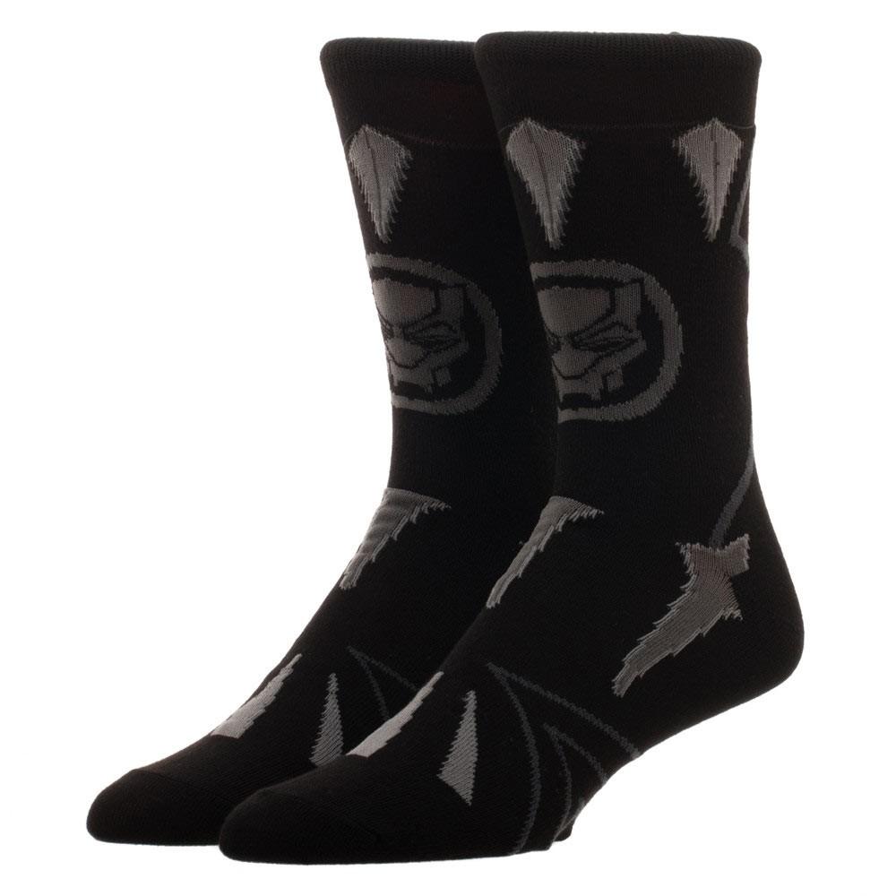 Black Panther Suit Up Black Crew Socks