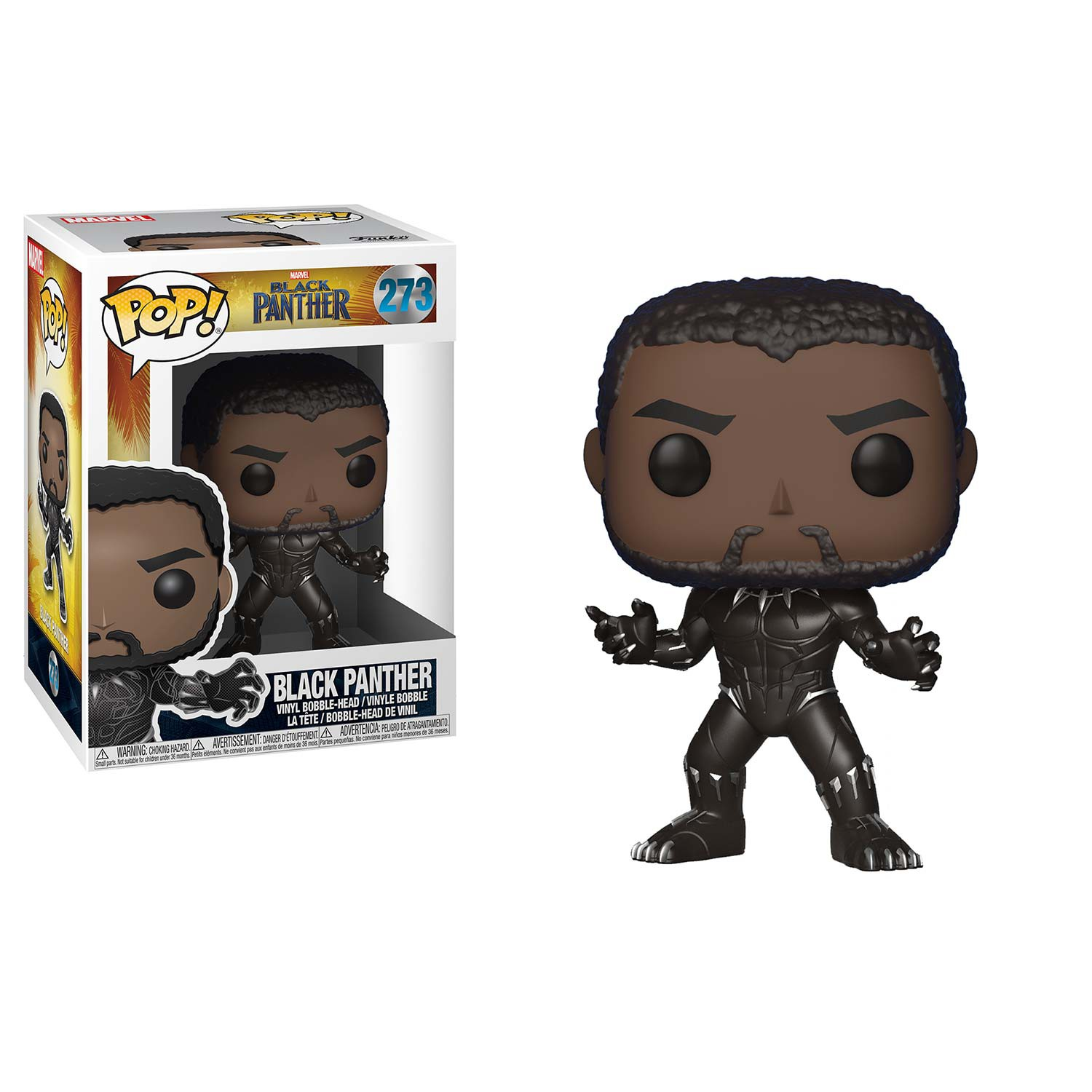 Black Panther Funko Pop Unmasked Vinyl Figure