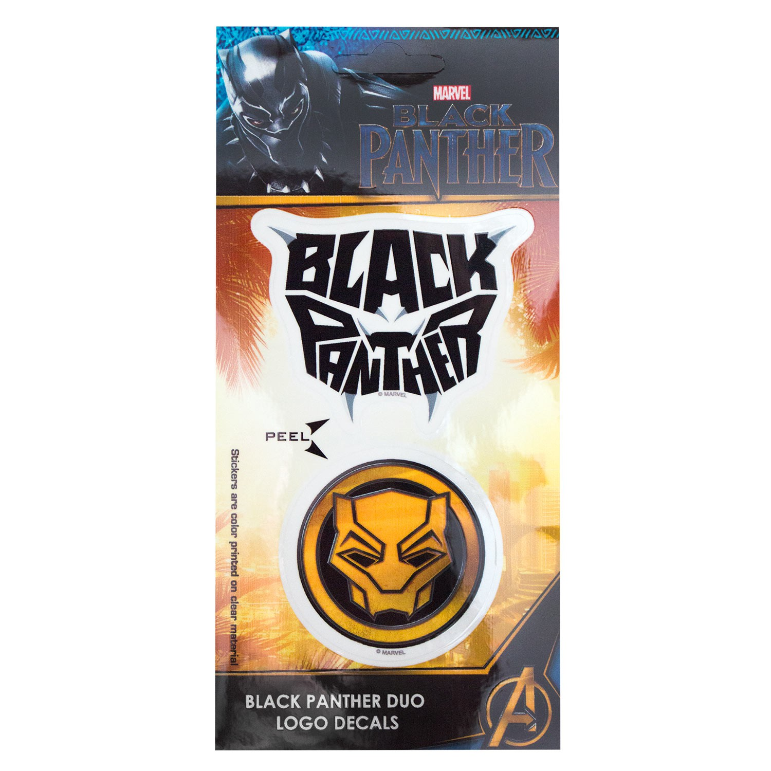 Black Panther Logo Sticker Set Of 2