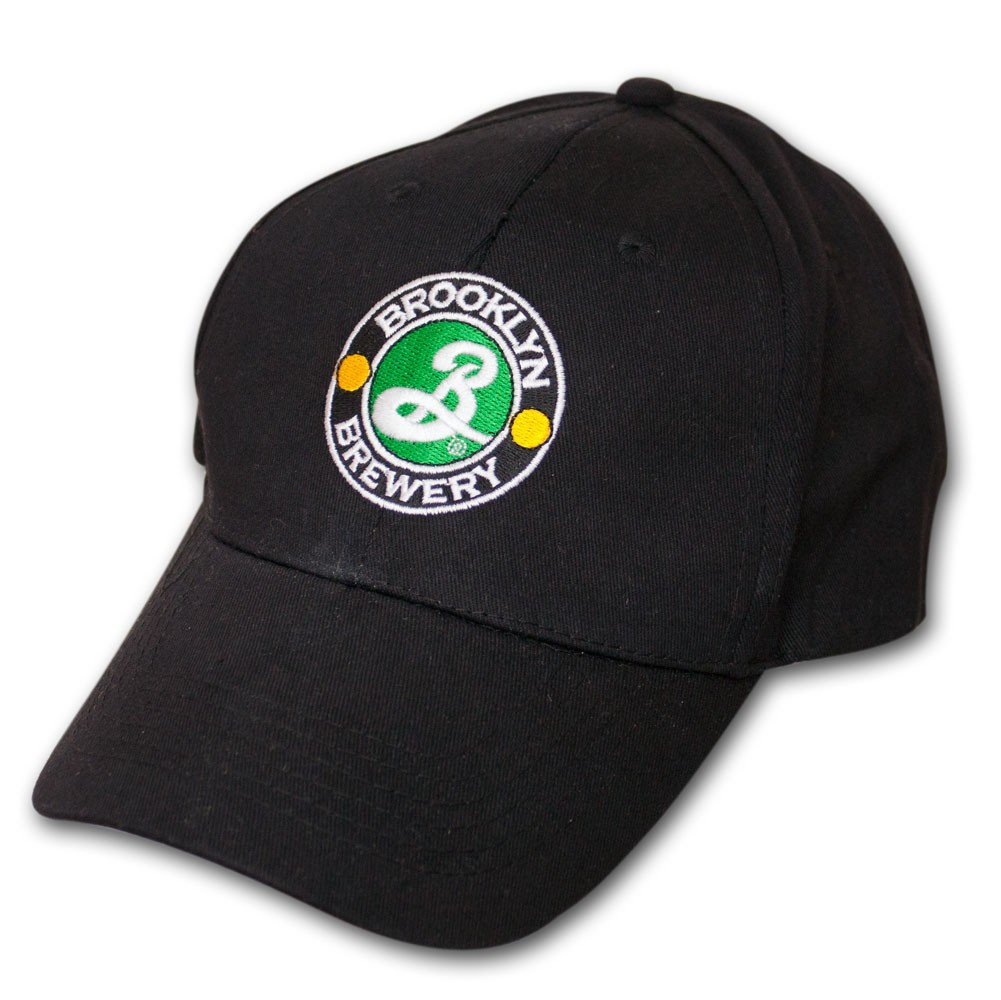 Brooklyn Brewery Embroidered Black Logo Adjustable Baseball Cap