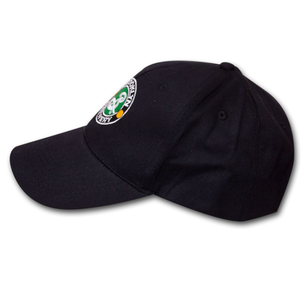 Brooklyn Brewery Embroidered Black Logo Adjustable Baseball Cap