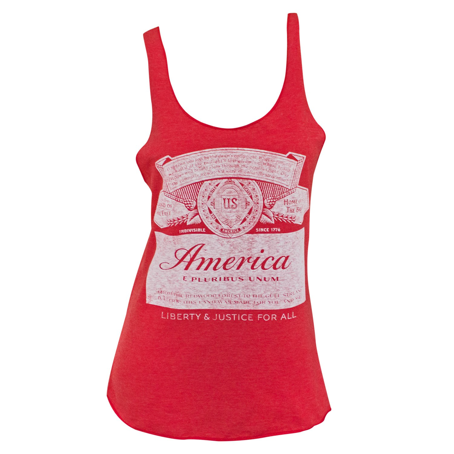Budweiser America Label Racerback Women's Red Tank Top