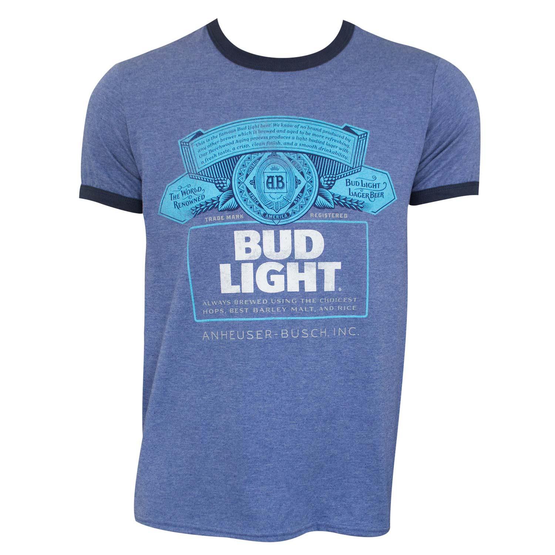 Bud Light Men's Heather Blue Ringer T-Shirt