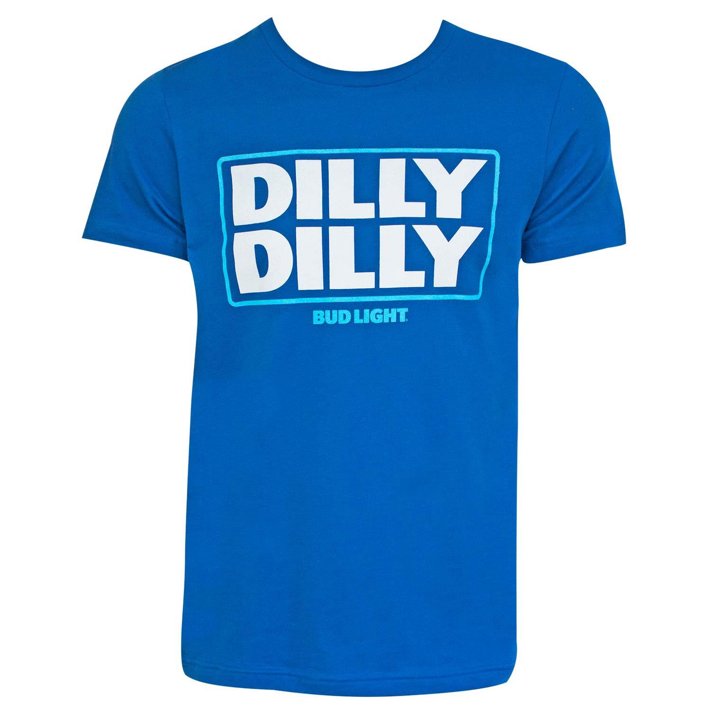 Bud Light Beer Dilly Dilly Logo Men's Blue T-Shirt