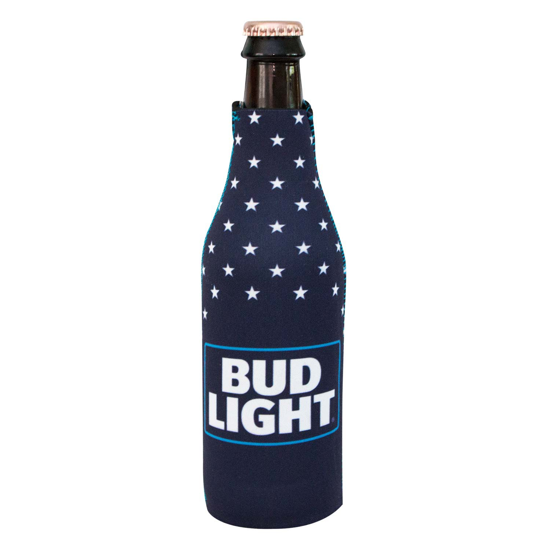 Bud Light Patriotic Zipper Bottle Cooler