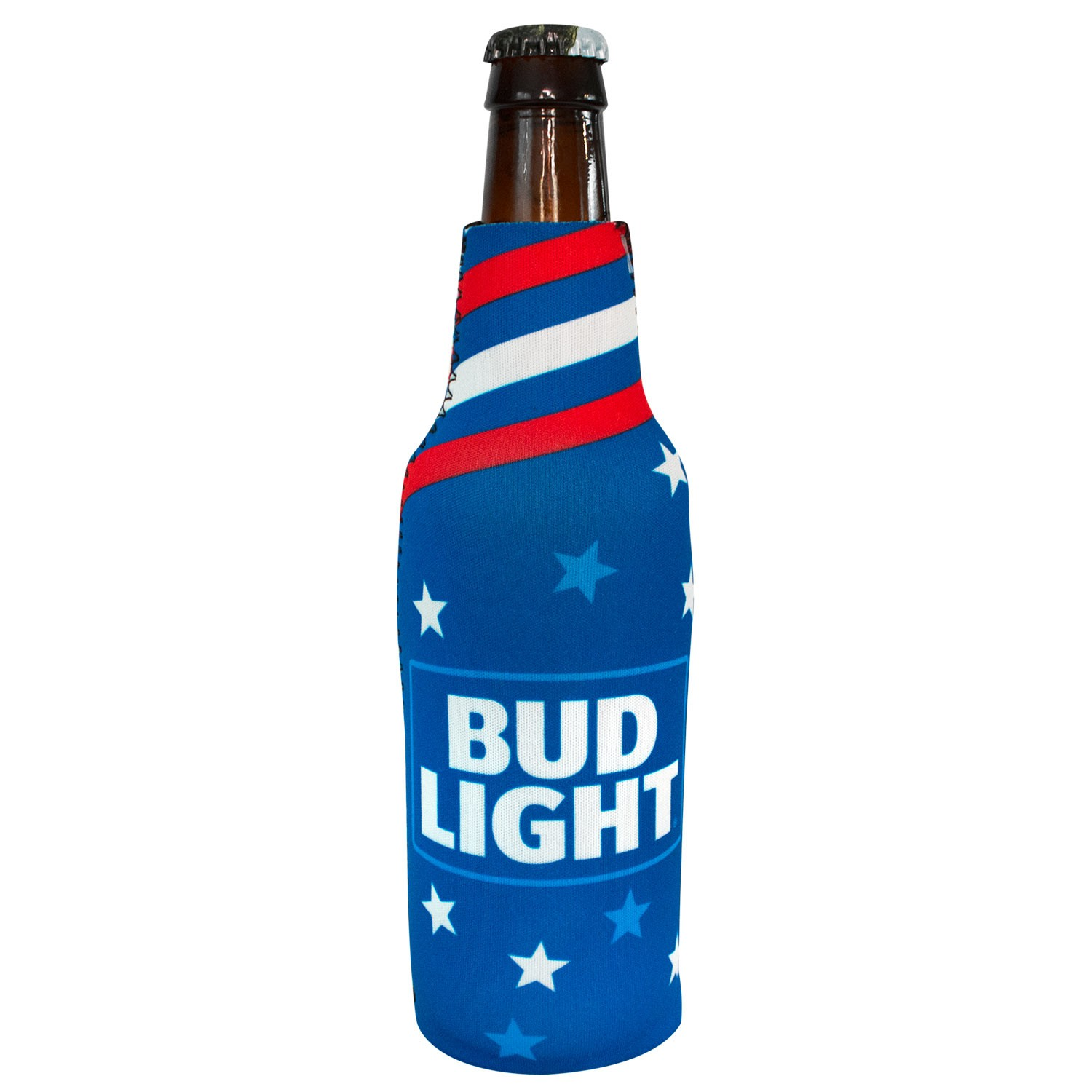 Bud Light Patriotic Bottle Cooler