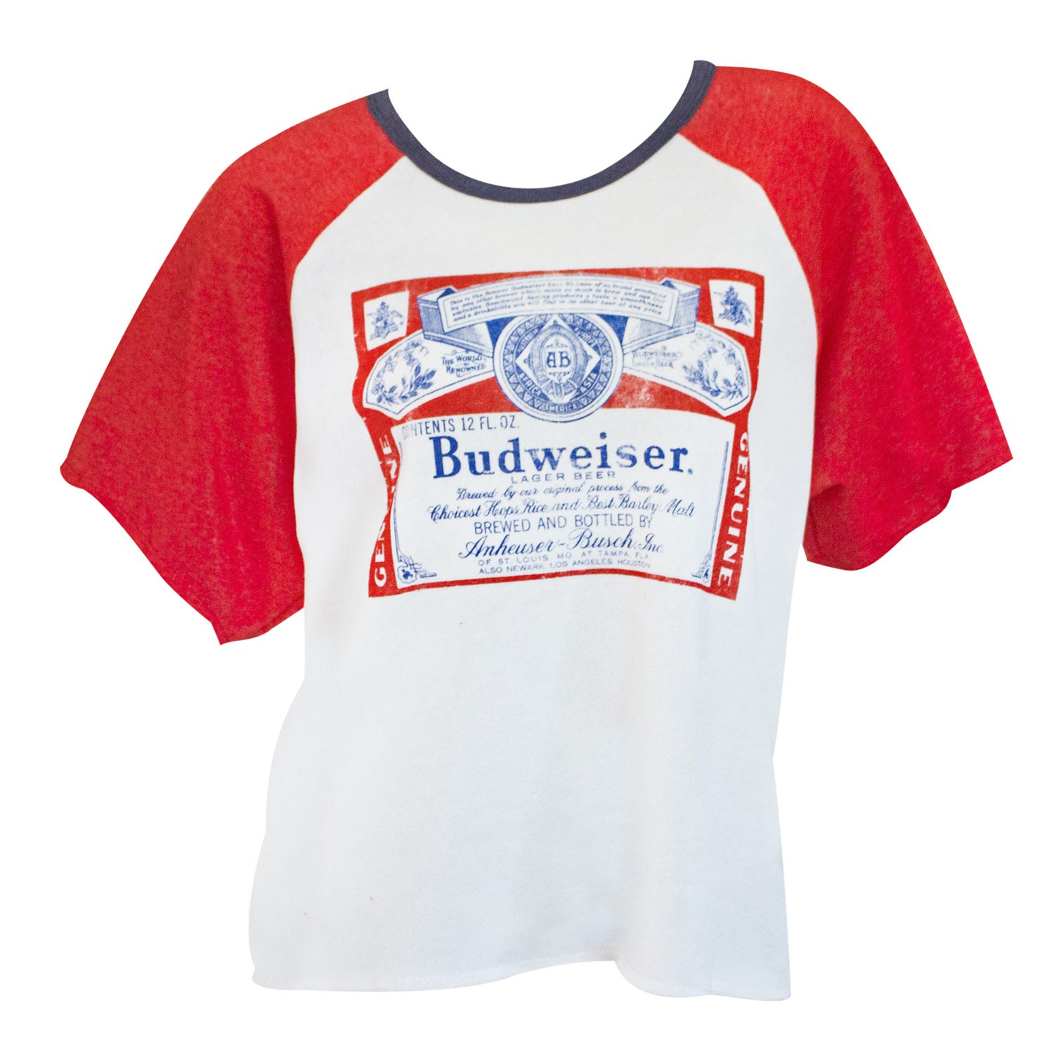 Budweiser Fighter Women's Oversized Cutoff Raglan Sweatshirt