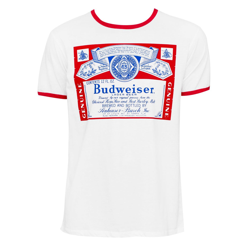 Budweiser White Ringer Tee Shirt