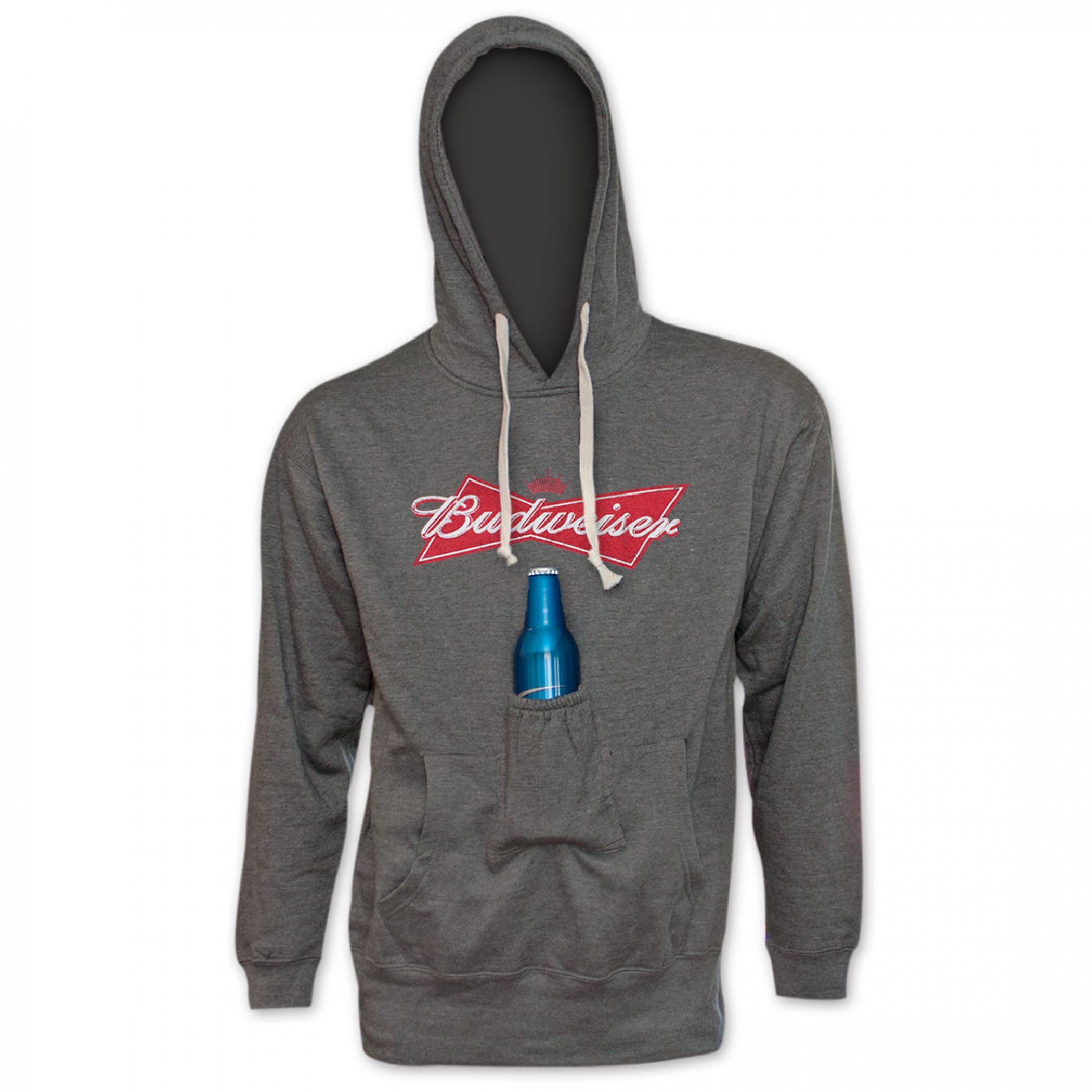 Budweiser Bowtie Logo Beer Pouch Hoodie