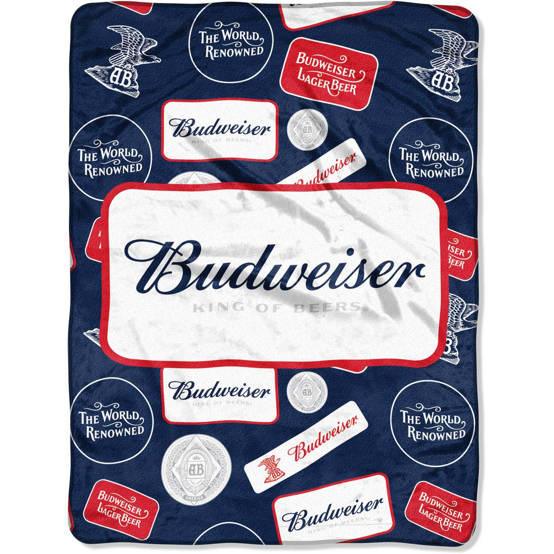 Budweiser Plush Throw Blanket