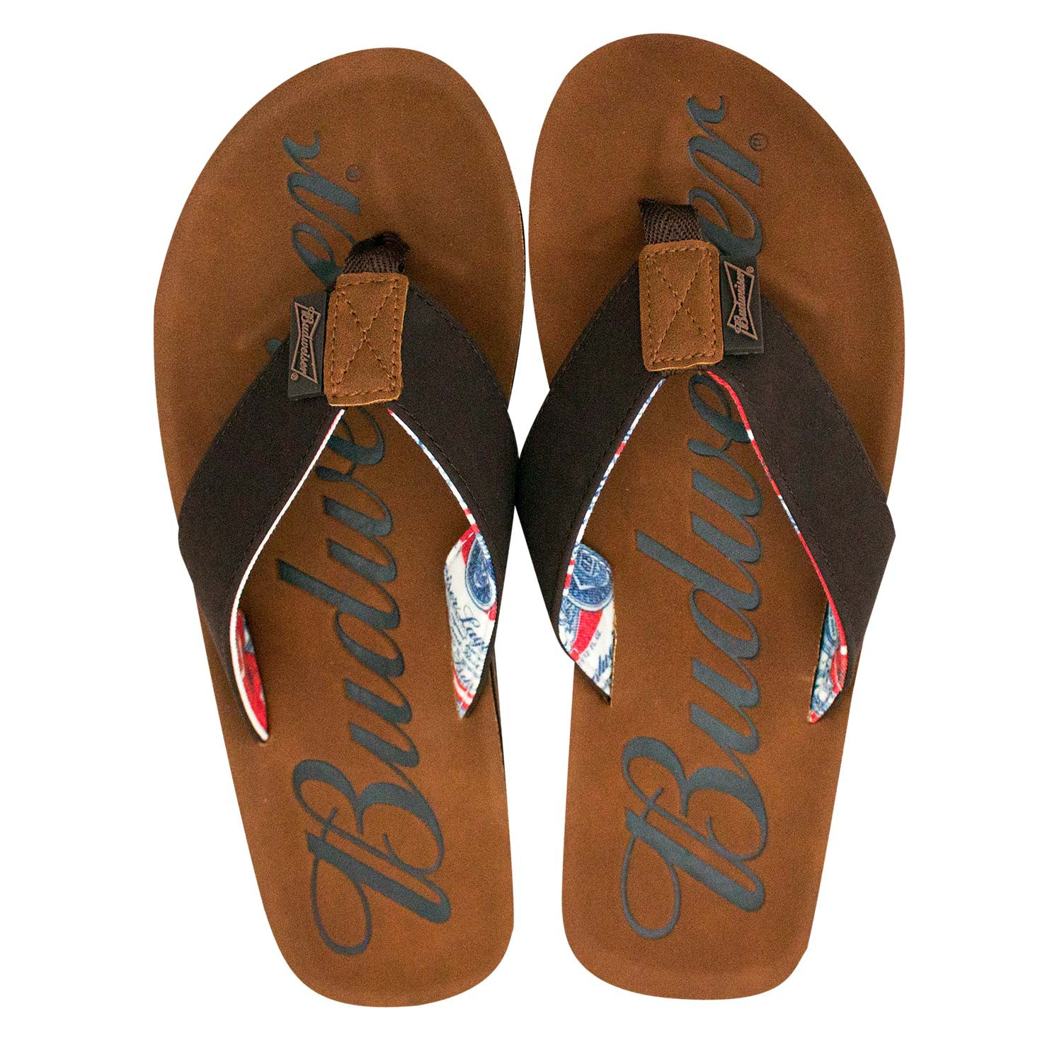 Budweiser Script Logo Men's Brown Sandals