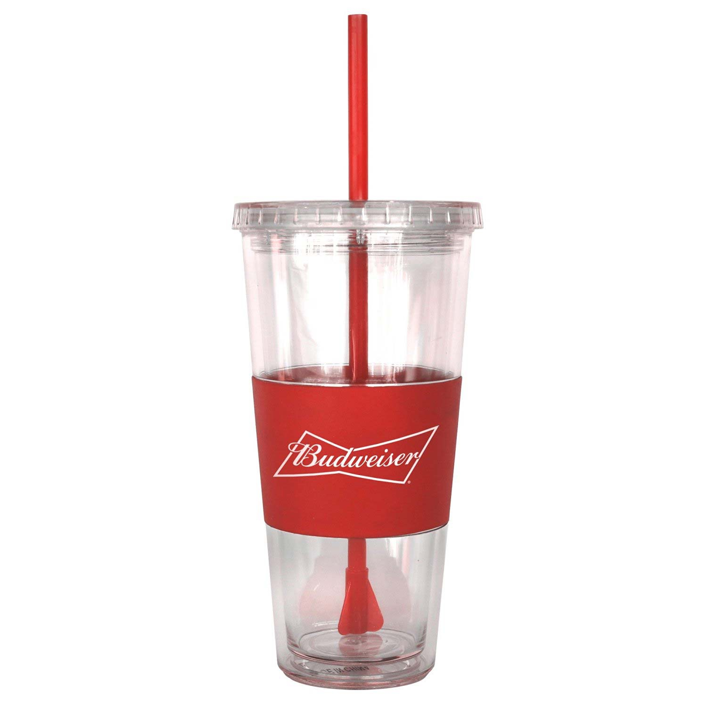 Budweiser Straw Tumbler Travel Cup