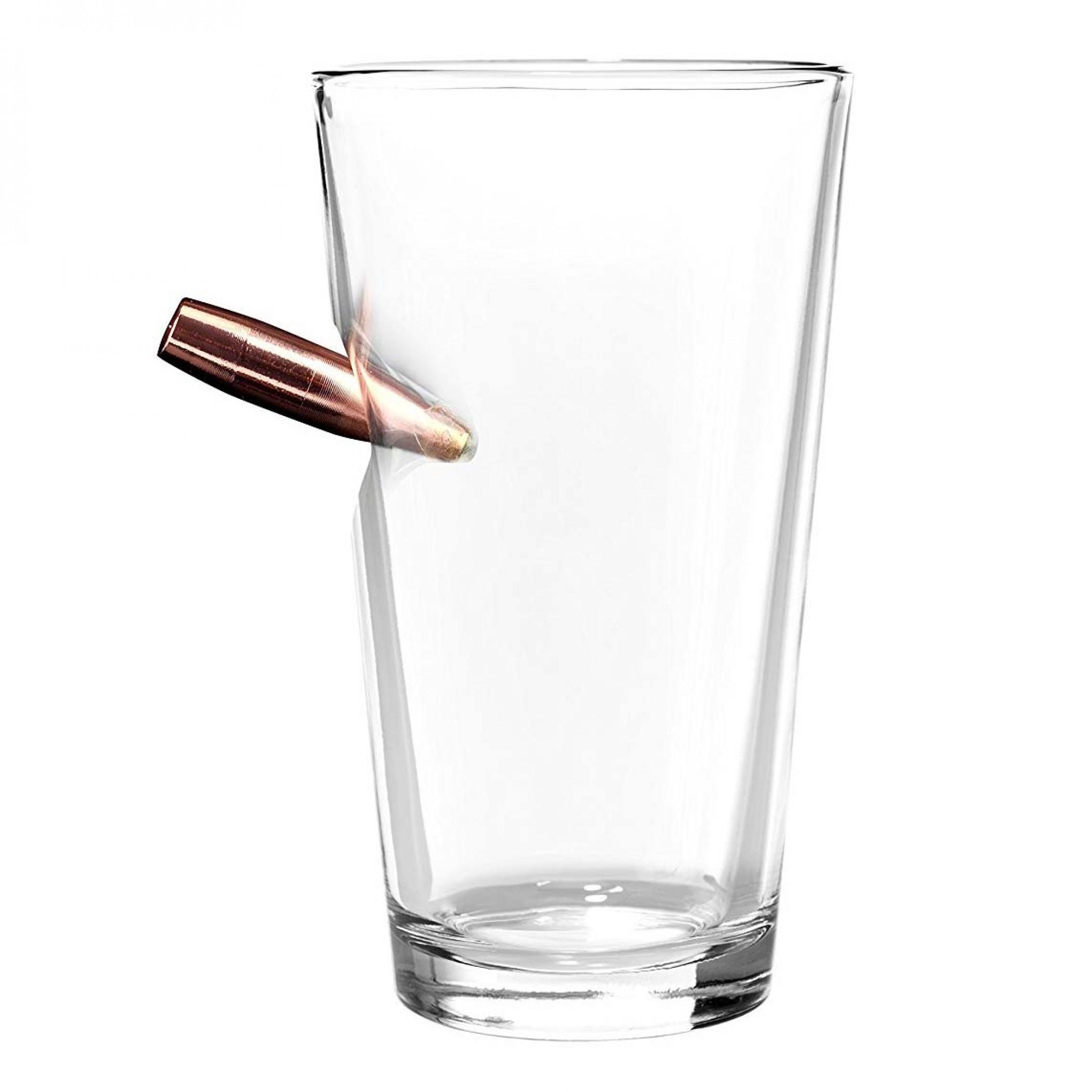 Last Man Standing Bullet Pint Glass