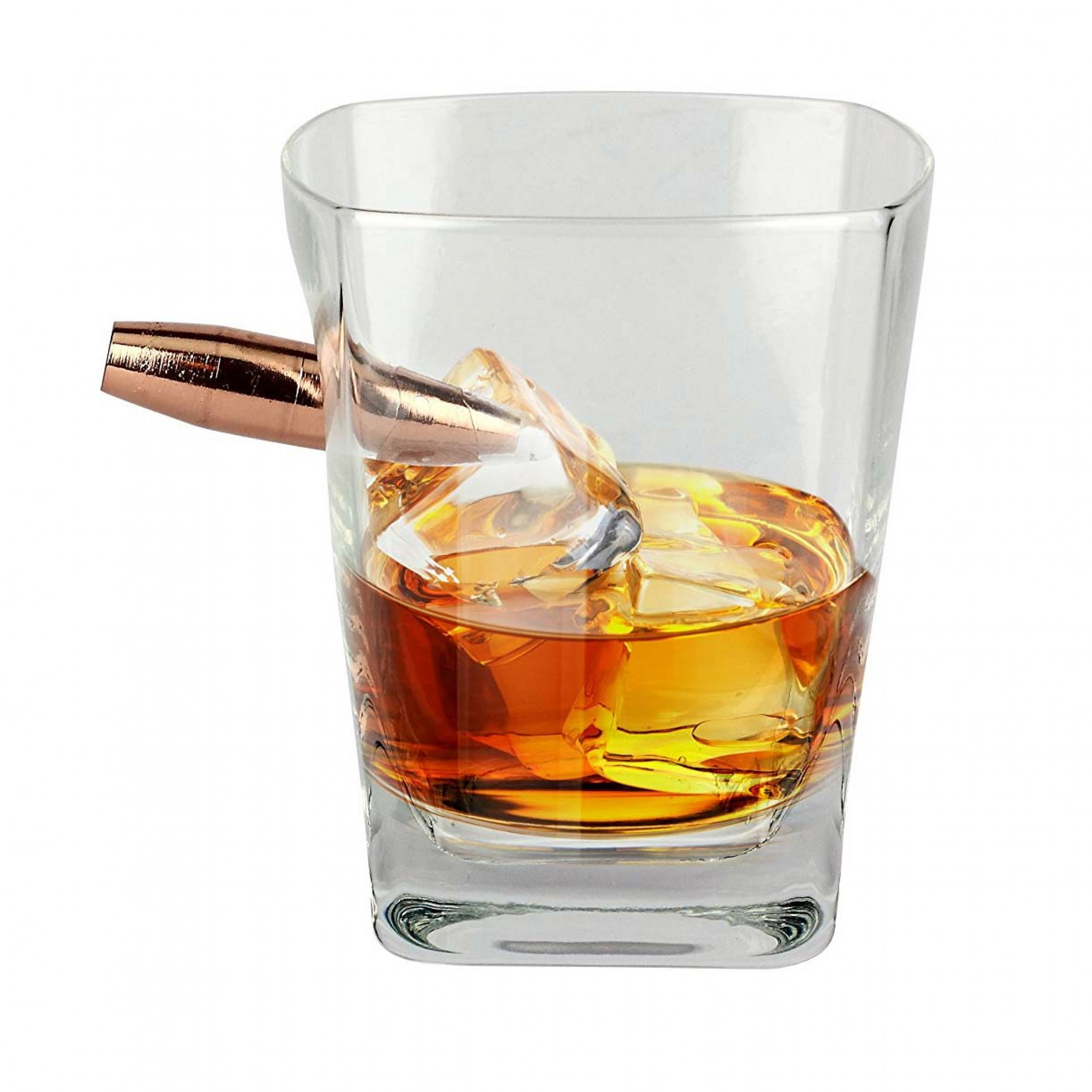 Last Man Standing Bullet Whiskey Glass