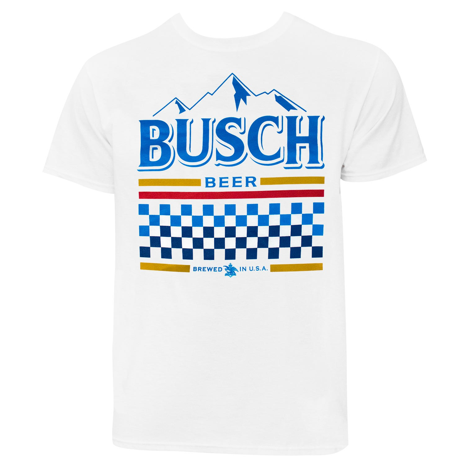 Busch White Racing Tee Shirt