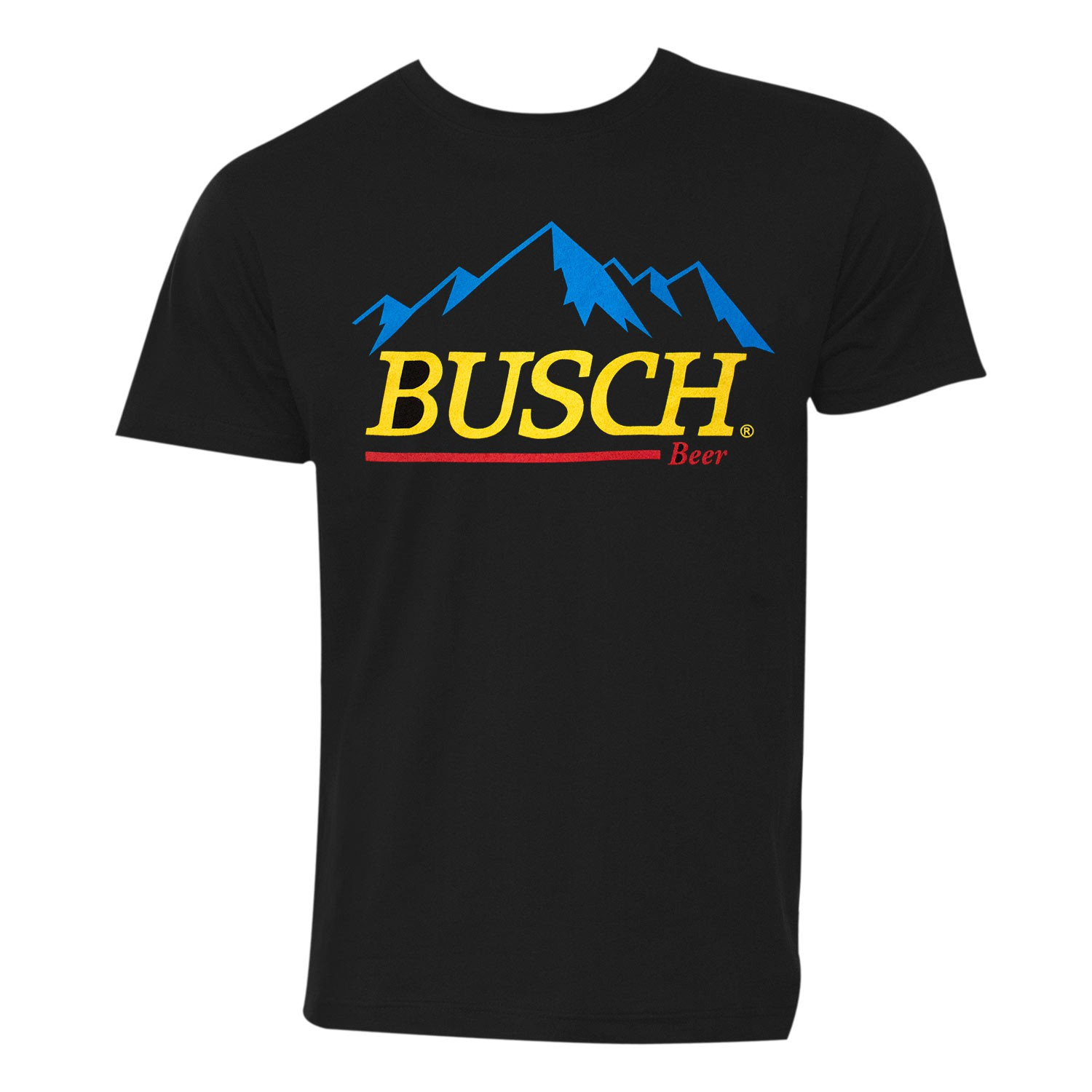 Busch Beer Gold Logo Black Tee Shirt