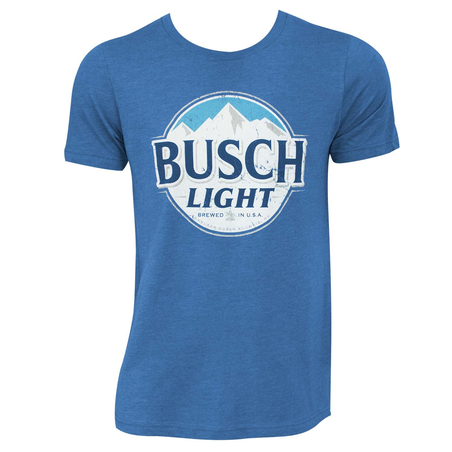 Busch Light Heather Blue Round Logo Tee Shirt