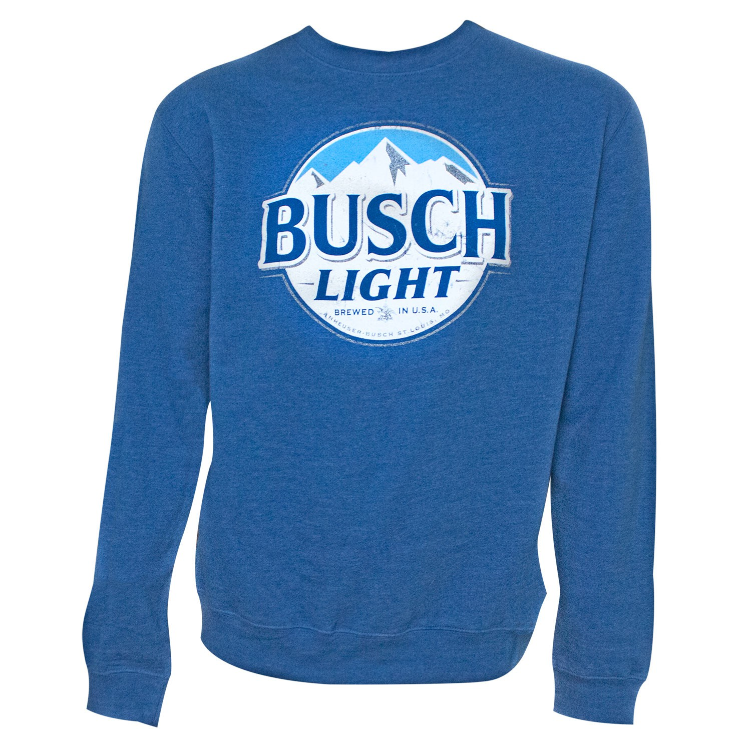 Busch Light Beer Logo Men's Royal Blue Crewneck Sweatshirt
