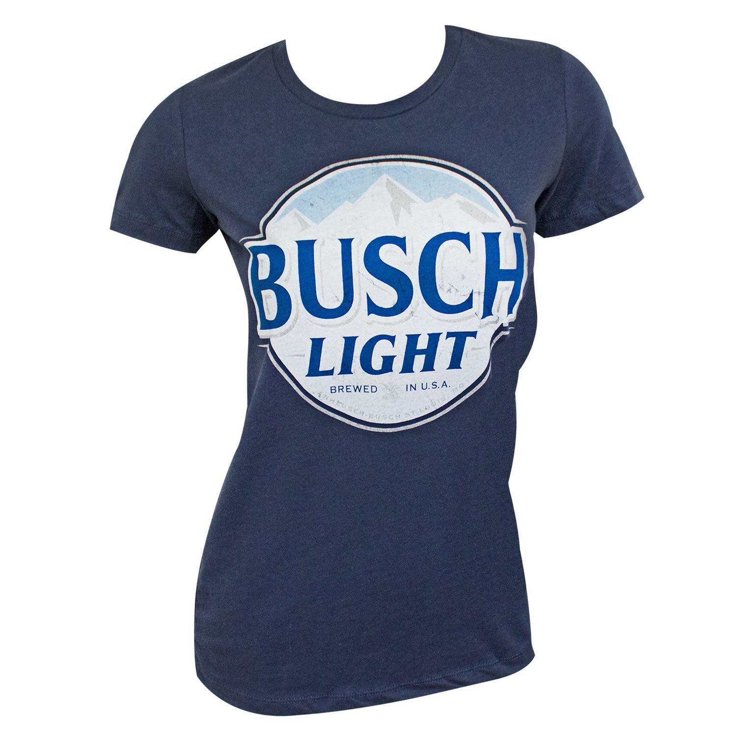 Busch Light Logo Women's Navy Blue T-Shirt