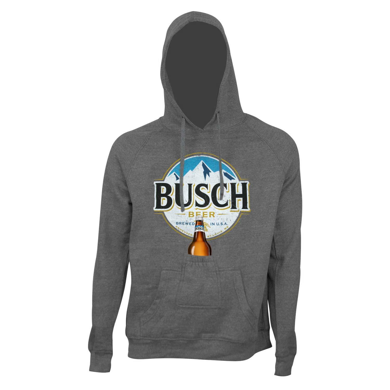 Busch Round Logo Beer Pouch Hoodie