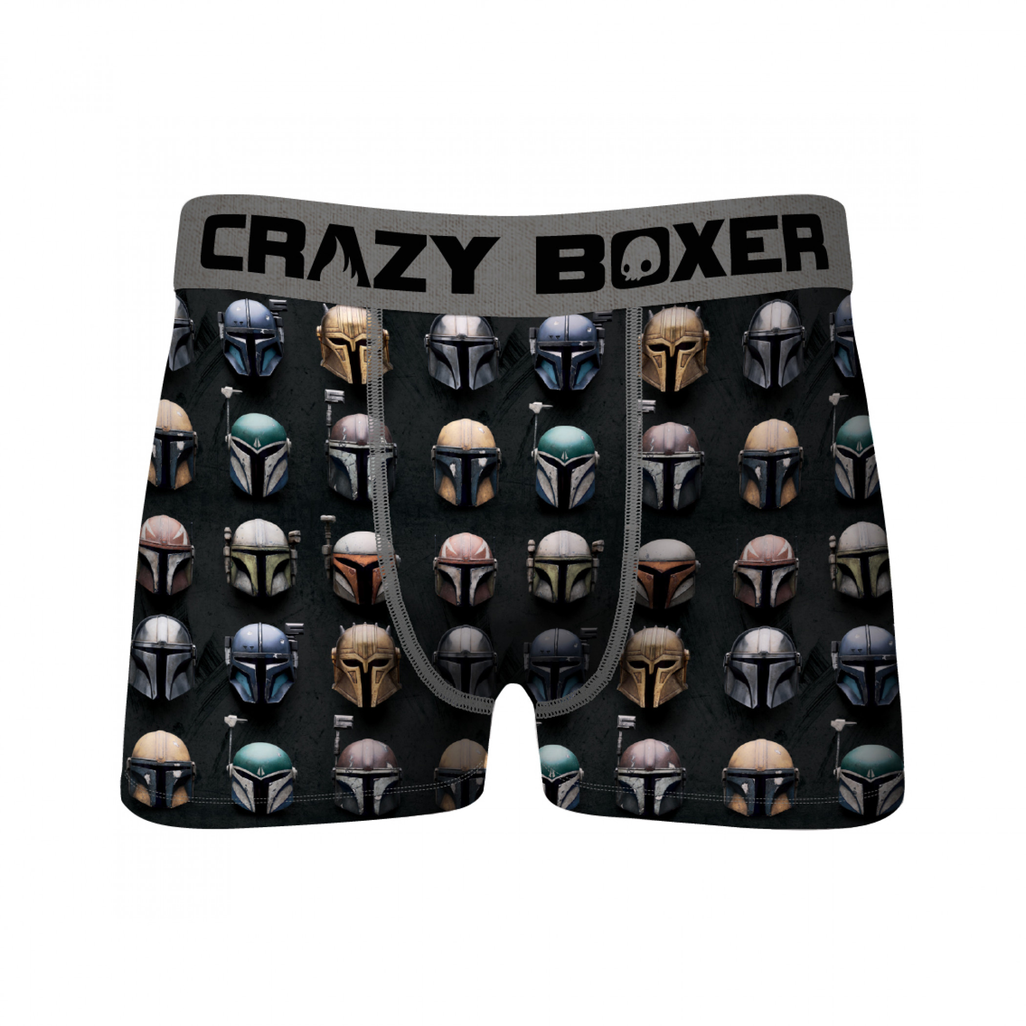 Star Wars The Mandalorian All Helmets All Over Crazy Boxer Briefs