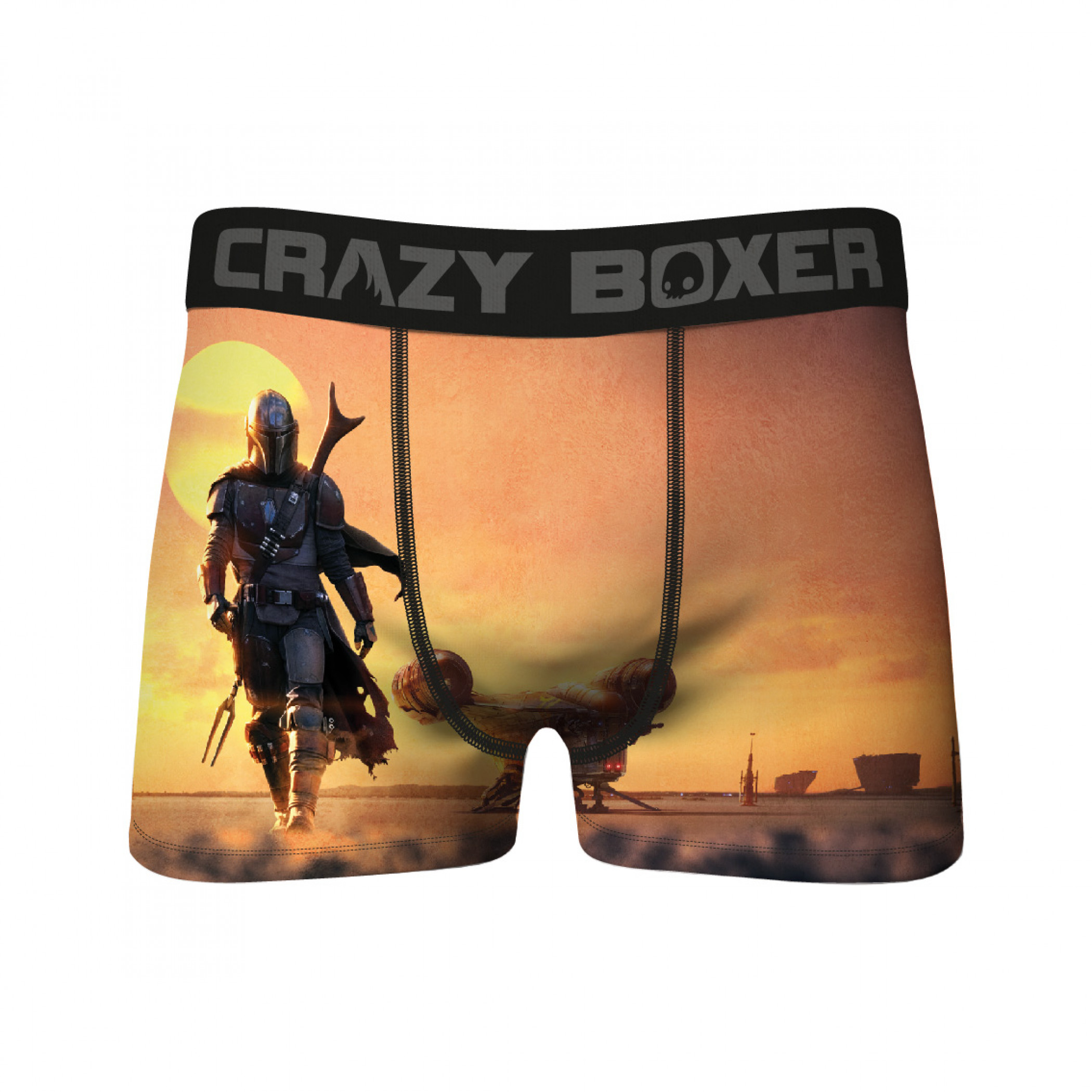 Star Wars The Mandalorian Walking Sunset Crazy Boxer Briefs