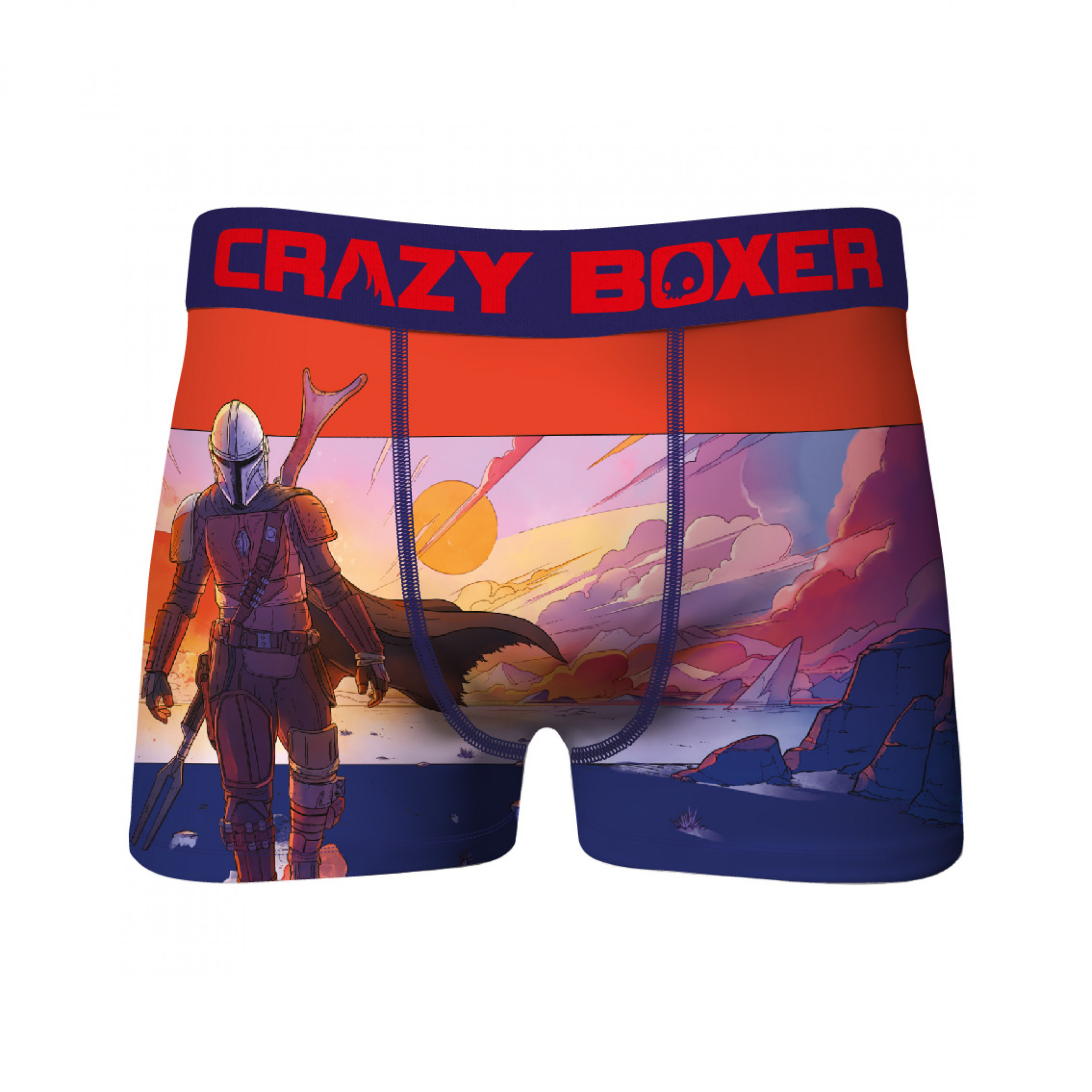 Star Wars The Mandalorian Landscape & The Child All Over Print 2-Pack of Crazy Boxer Briefs