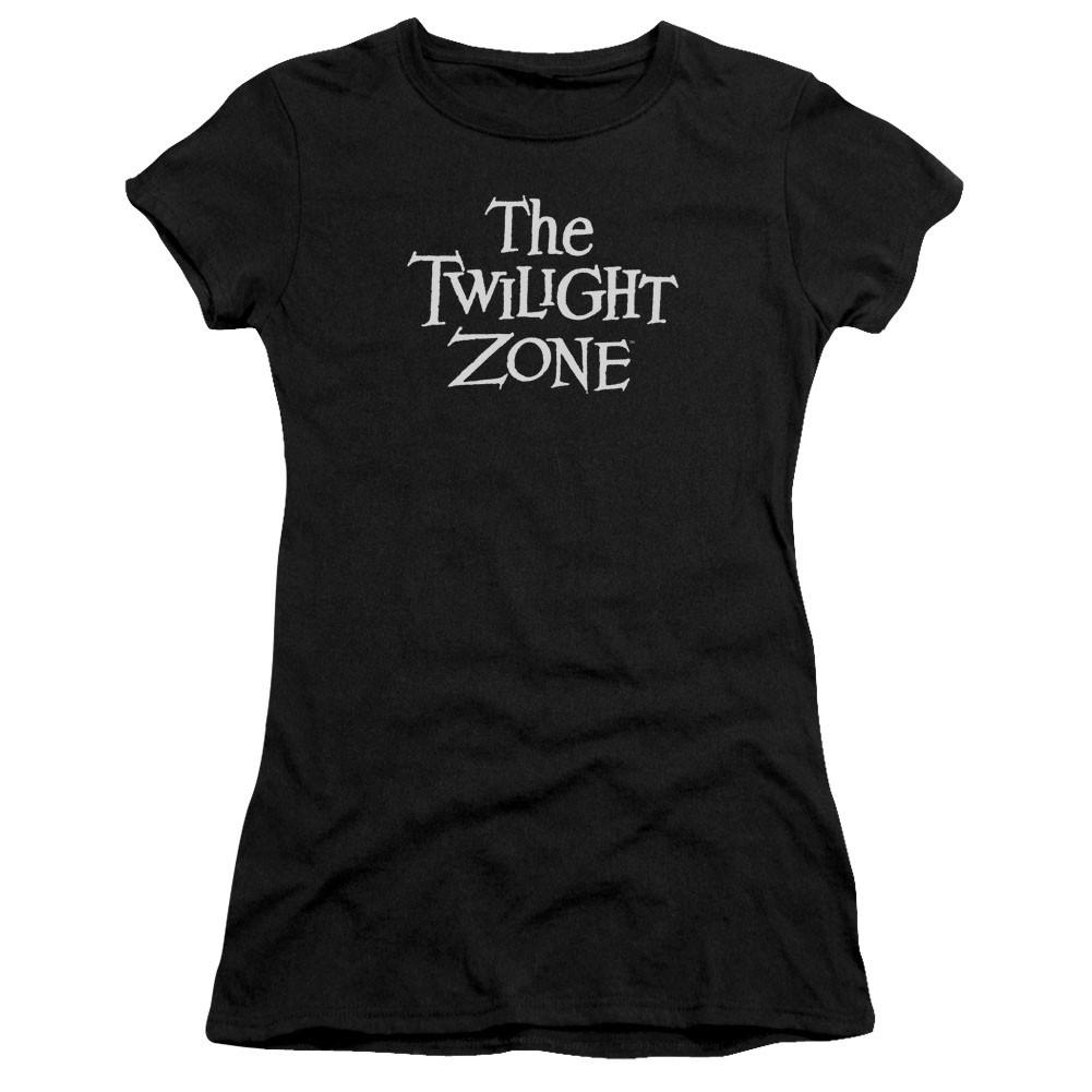 Twilight Zone Logo Black Juniors T-Shirt