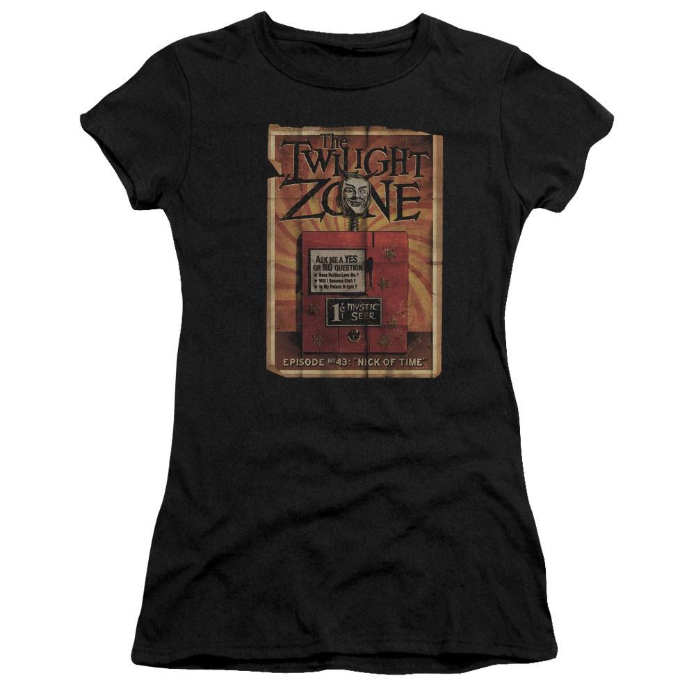 Twilight Zone Seer Black Juniors T-Shirt