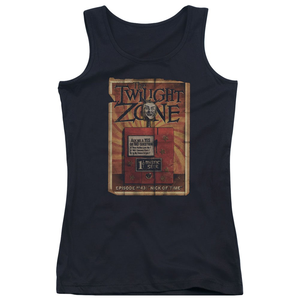 Twilight Zone Seer Black Juniors Tank Top
