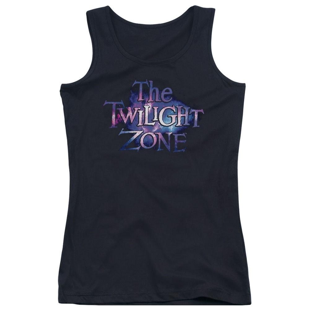 Twilight Zone Twilight Galaxy Black Juniors Tank Top