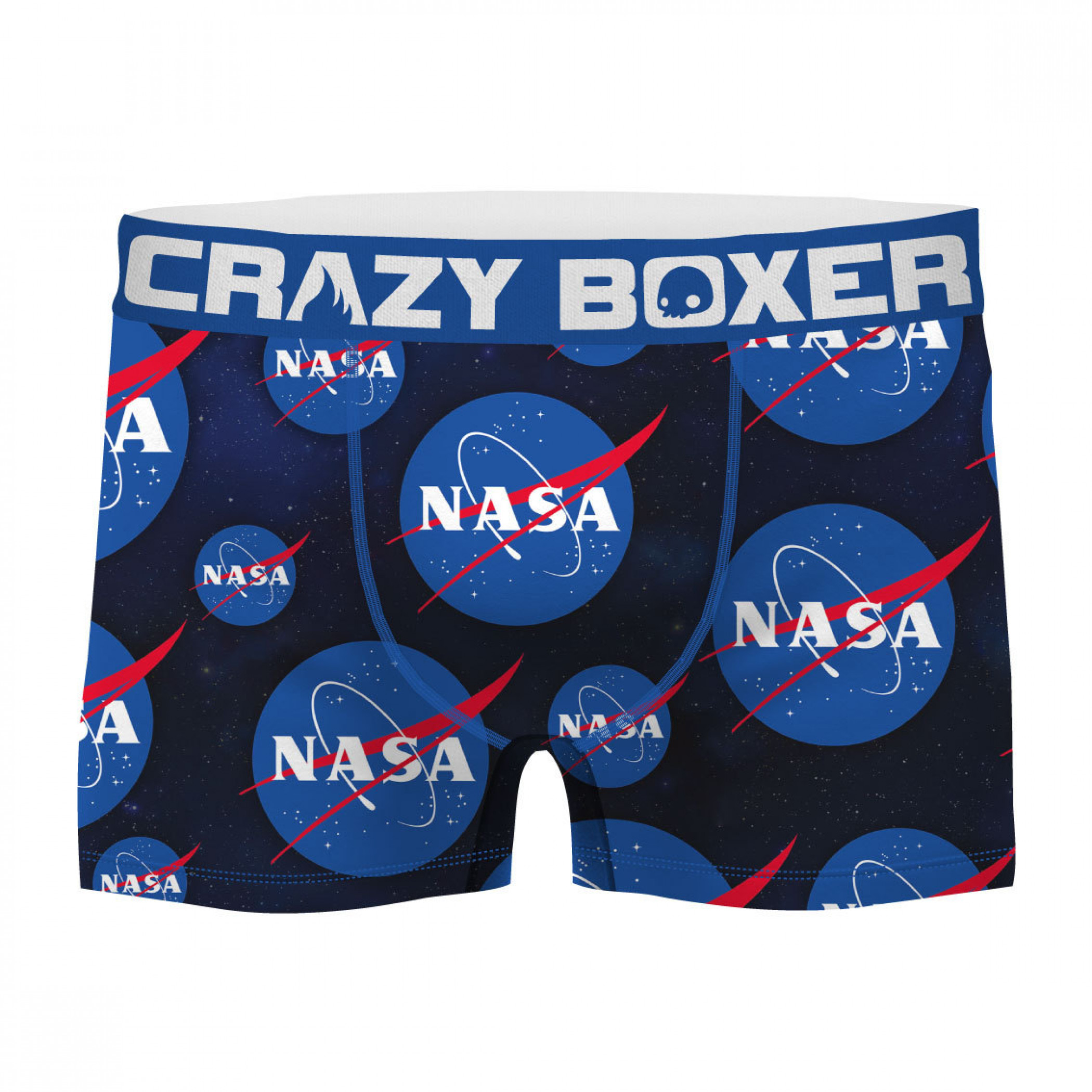 NASA Symbol All Over Print Men's Boxer Briefs Shorts